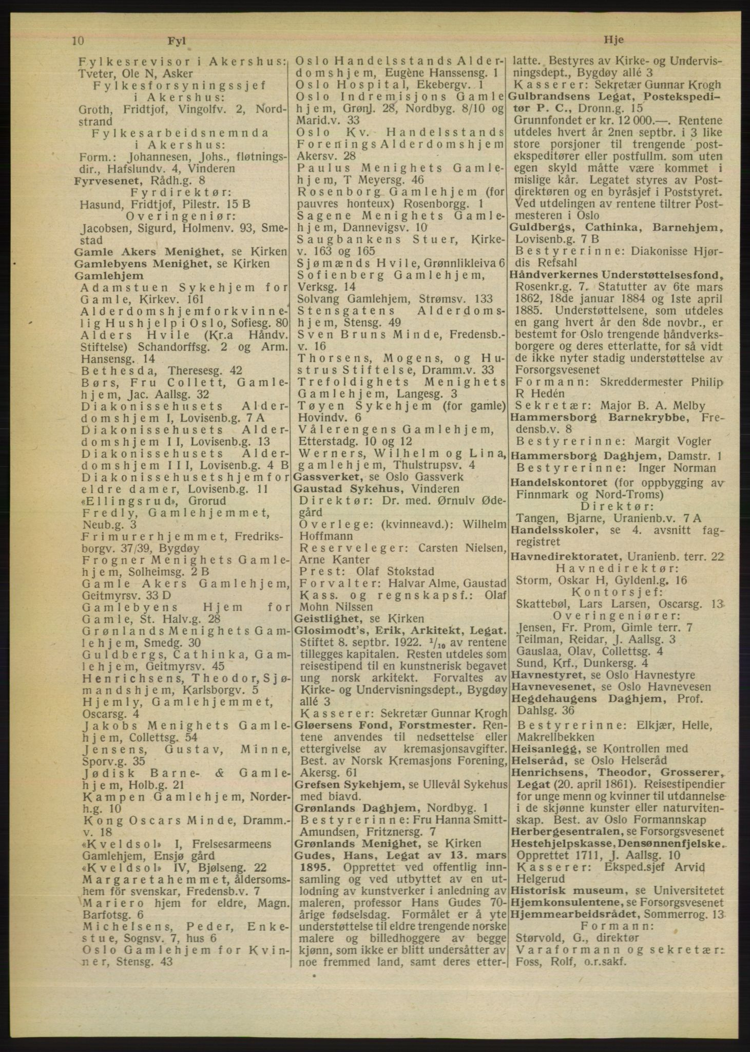 RA, Oslo adressebok (publikasjon)*, 1949, s. 10