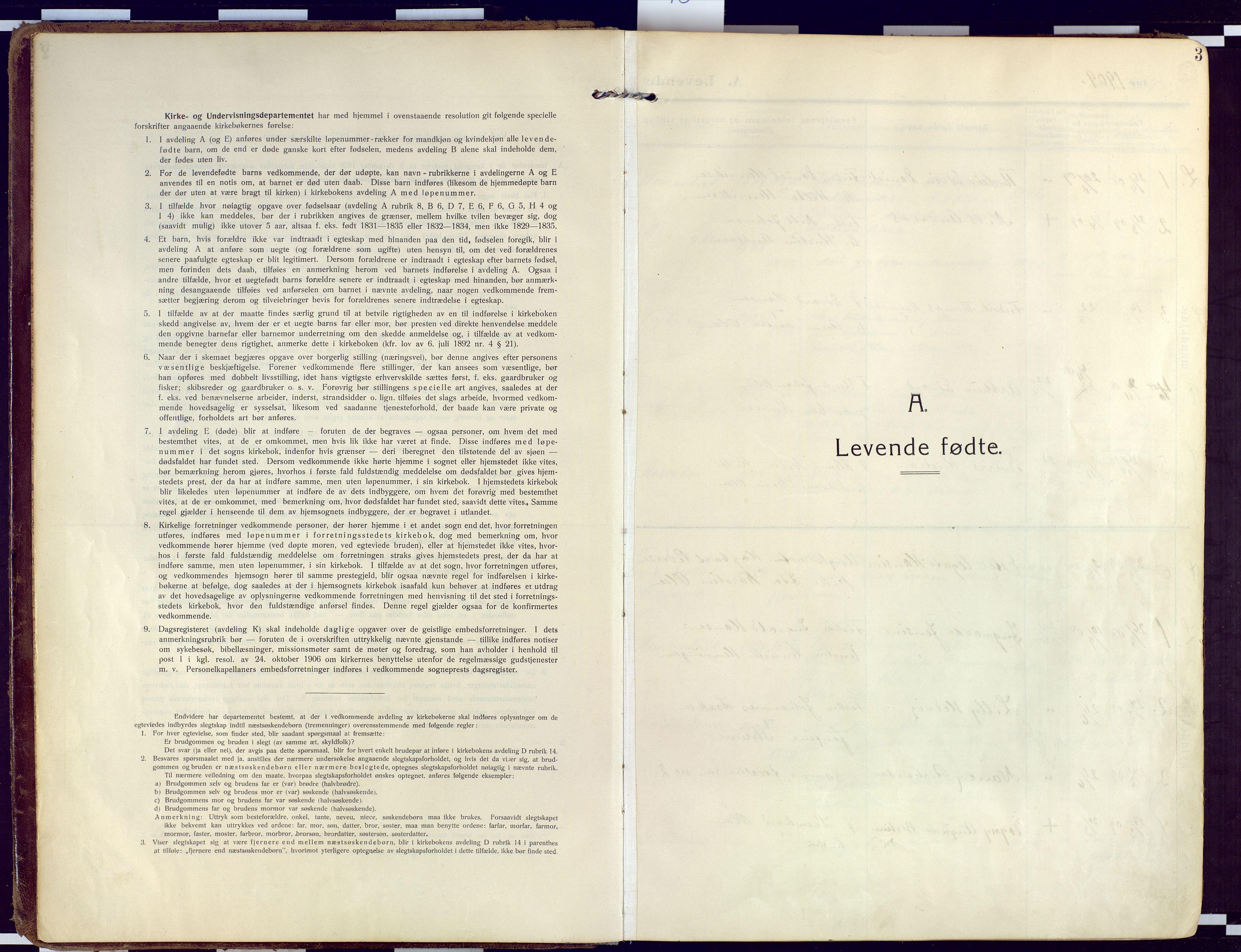SATØ, Loppa sokneprestkontor, H/Ha/L0011kirke: Ministerialbok nr. 11, 1909-1919, s. 3
