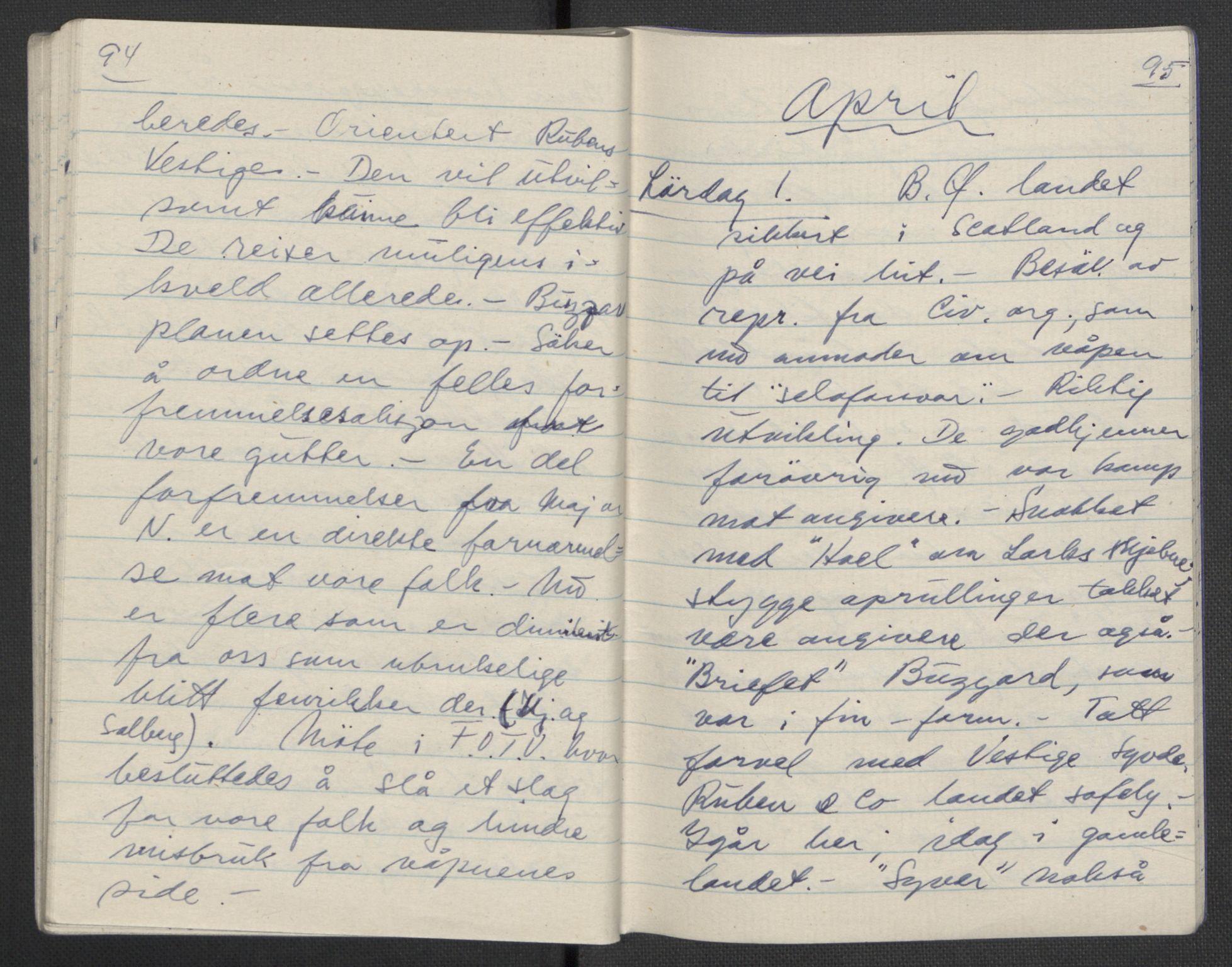 RA, Tronstad, Leif, F/L0001: Dagbøker, 1941-1945, s. 668