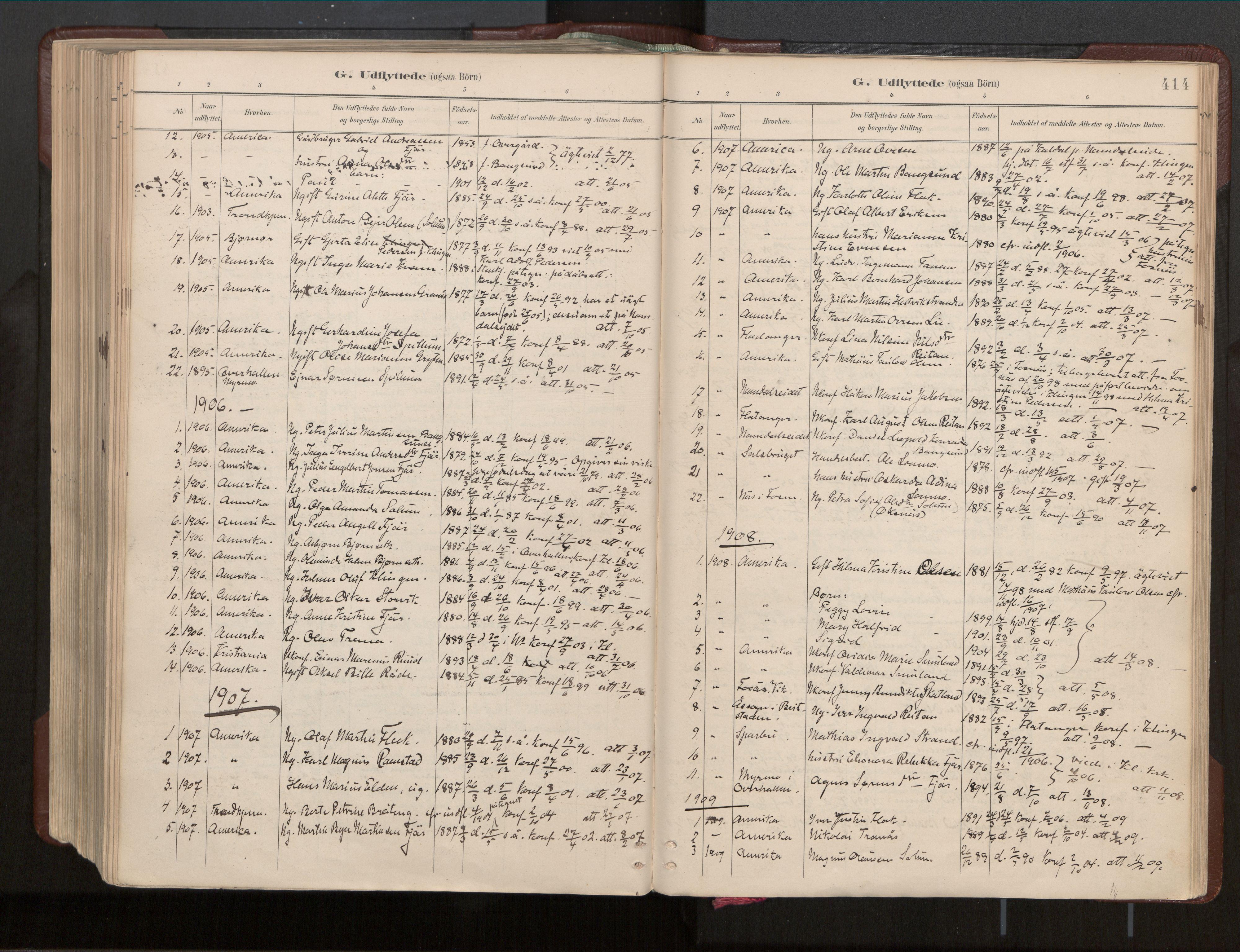 SAT, Ministerialprotokoller, klokkerbøker og fødselsregistre - Nord-Trøndelag, 770/L0589: Ministerialbok nr. 770A03, 1887-1929, s. 414