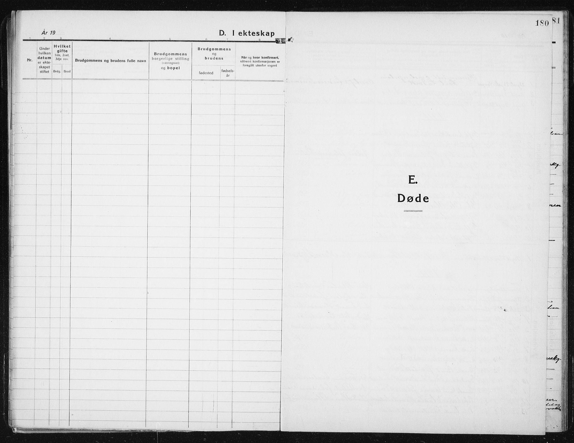 SAT, Ministerialprotokoller, klokkerbøker og fødselsregistre - Sør-Trøndelag, 641/L0599: Klokkerbok nr. 641C03, 1910-1938, s. 180