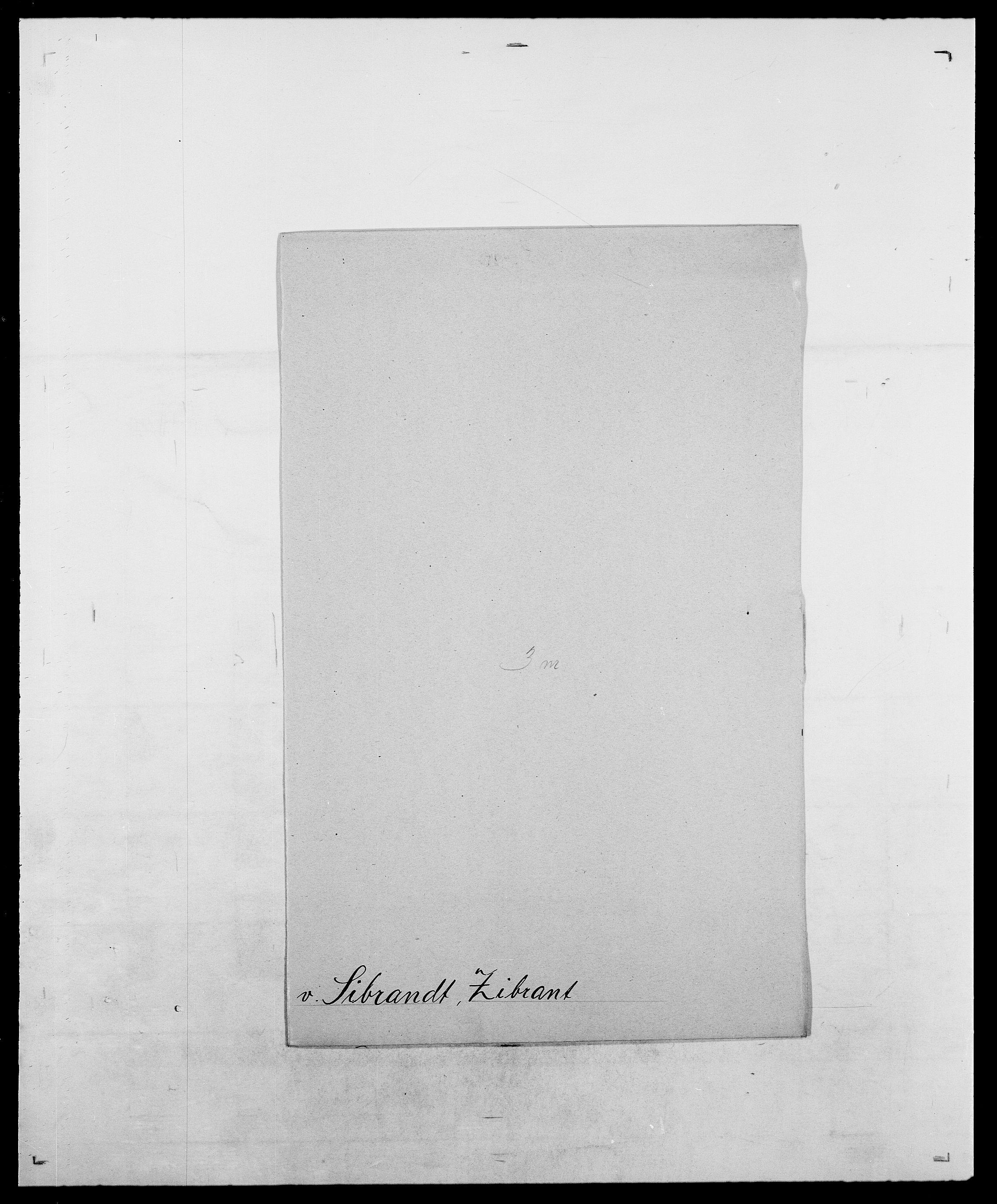 SAO, Delgobe, Charles Antoine - samling, D/Da/L0035: Schnabel - sjetman, s. 750