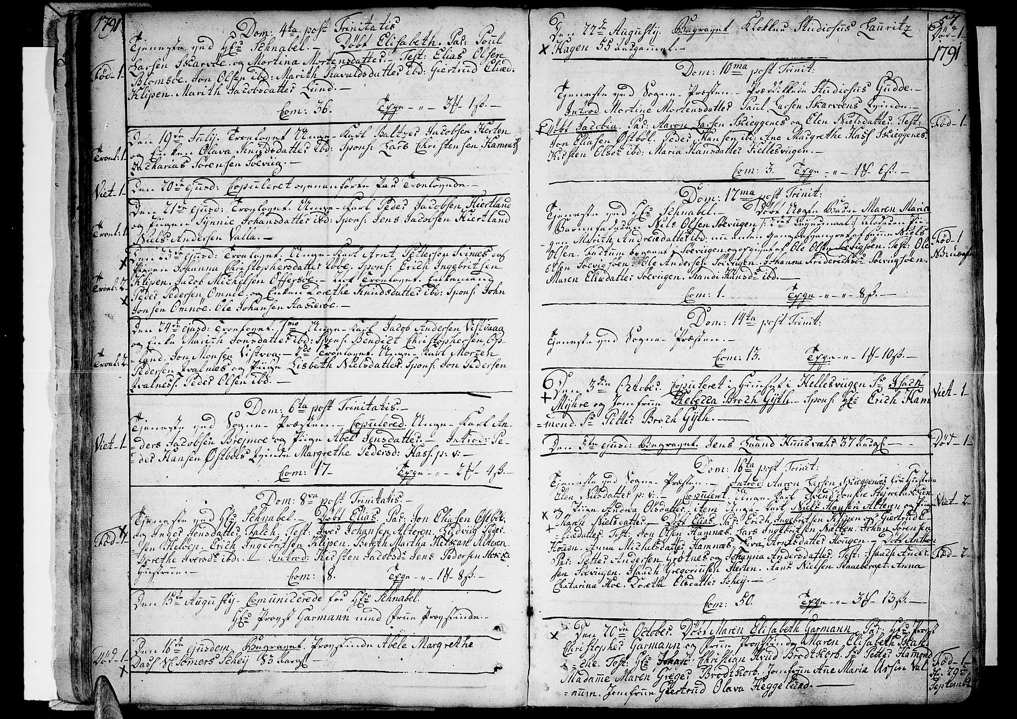SAT, Ministerialprotokoller, klokkerbøker og fødselsregistre - Nordland, 830/L0439: Ministerialbok nr. 830A07 /1, 1776-1800, s. 57