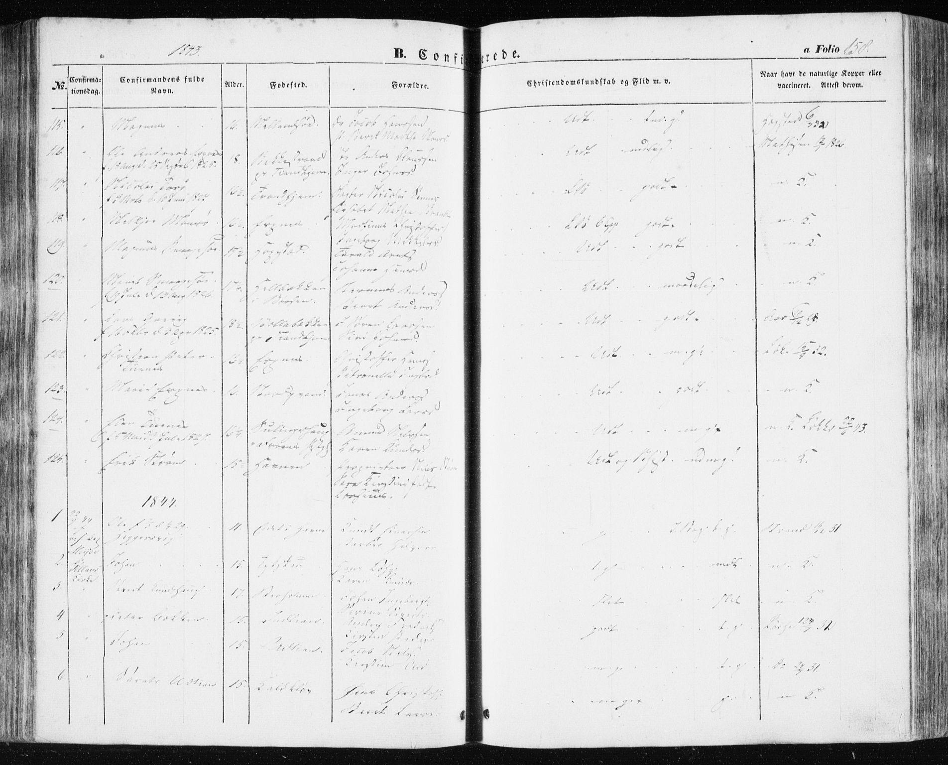 SAT, Ministerialprotokoller, klokkerbøker og fødselsregistre - Sør-Trøndelag, 634/L0529: Ministerialbok nr. 634A05, 1843-1851, s. 158