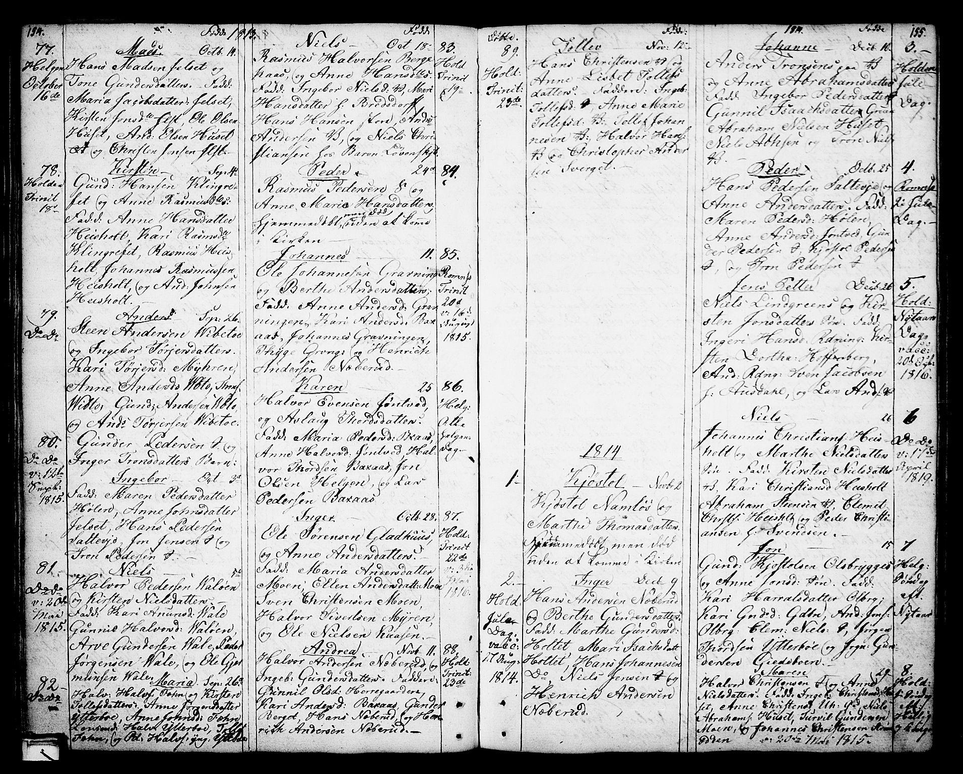 SAKO, Holla kirkebøker, F/Fa/L0002: Ministerialbok nr. 2, 1779-1814, s. 154-155