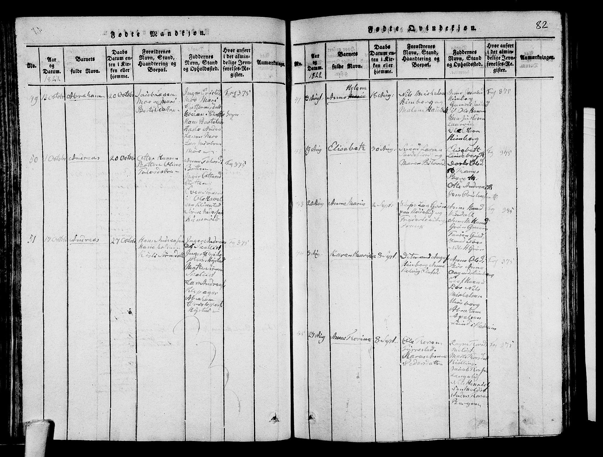 SAKO, Sandar kirkebøker, G/Ga/L0001: Klokkerbok nr. 1, 1814-1835, s. 82