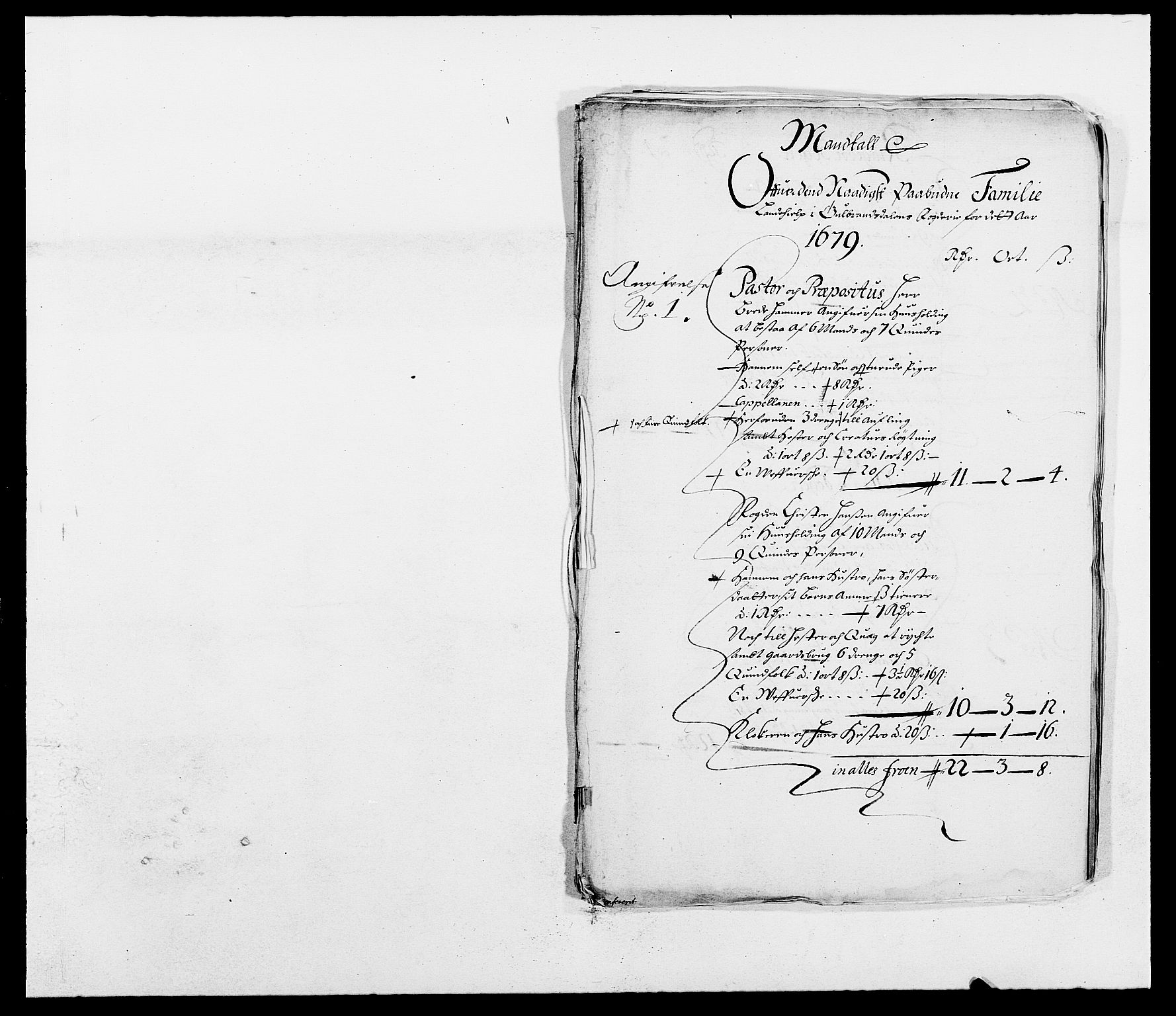 RA, Rentekammeret inntil 1814, Reviderte regnskaper, Fogderegnskap, R17/L1153: Fogderegnskap Gudbrandsdal, 1678-1679, s. 294