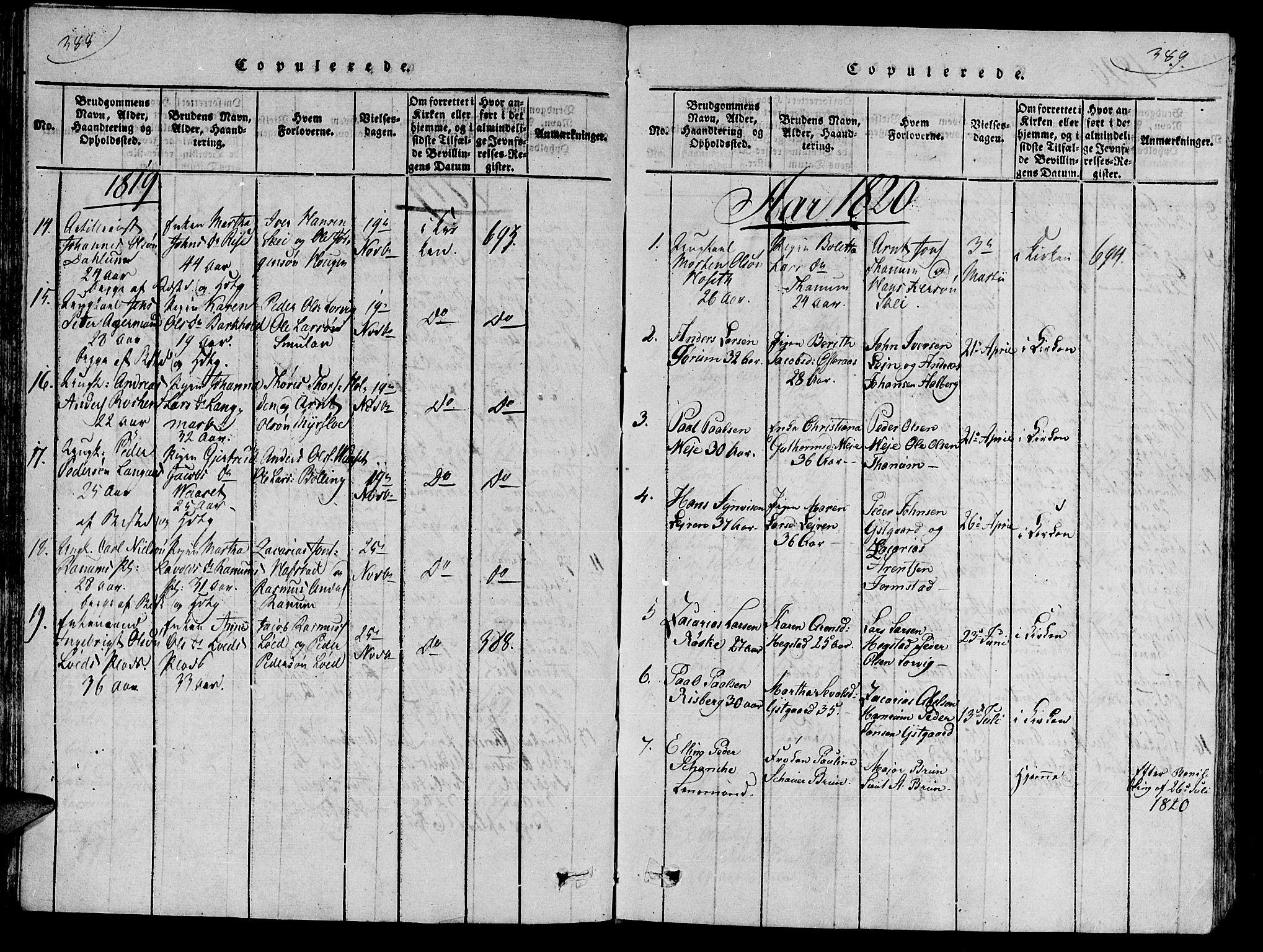 SAT, Ministerialprotokoller, klokkerbøker og fødselsregistre - Nord-Trøndelag, 735/L0333: Ministerialbok nr. 735A04 /1, 1816-1824, s. 388-389
