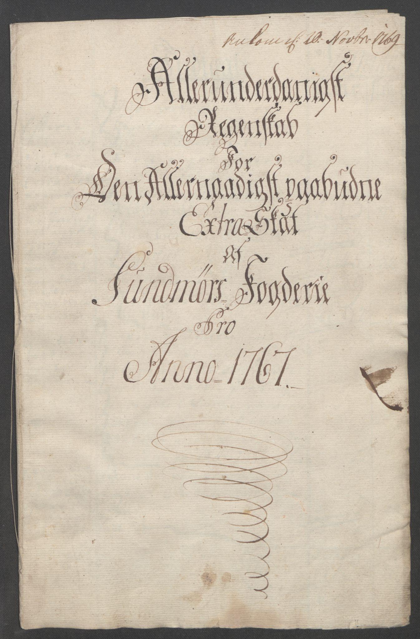 RA, Rentekammeret inntil 1814, Reviderte regnskaper, Fogderegnskap, R54/L3645: Ekstraskatten Sunnmøre, 1762-1772, s. 96