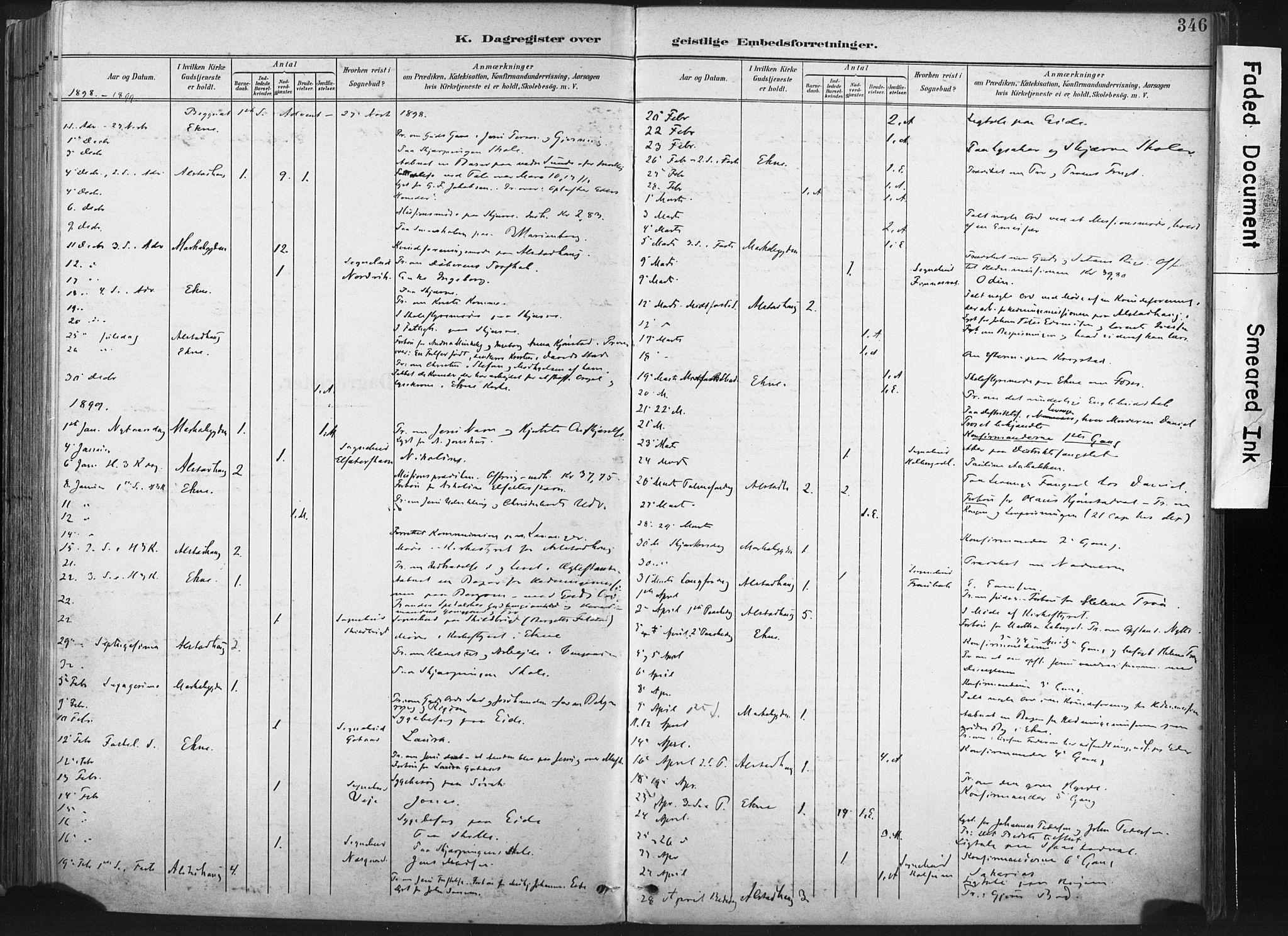 SAT, Ministerialprotokoller, klokkerbøker og fødselsregistre - Nord-Trøndelag, 717/L0162: Ministerialbok nr. 717A12, 1898-1923, s. 346