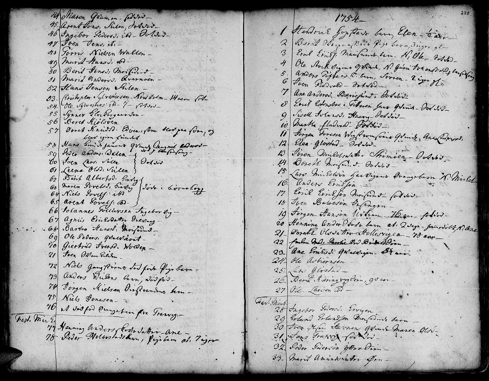 SAT, Ministerialprotokoller, klokkerbøker og fødselsregistre - Sør-Trøndelag, 634/L0525: Ministerialbok nr. 634A01, 1736-1775, s. 228