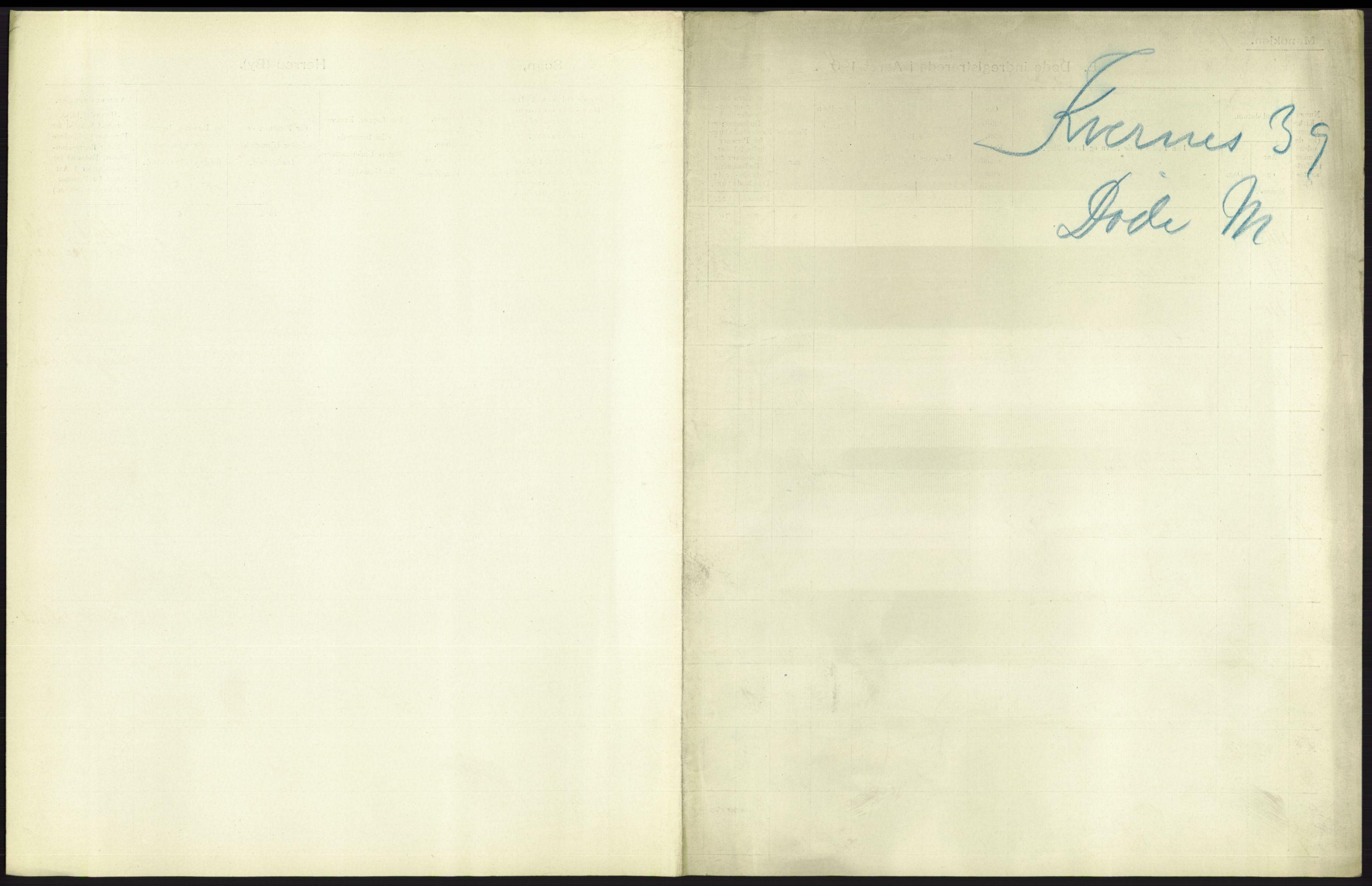 RA, Statistisk sentralbyrå, Sosiodemografiske emner, Befolkning, D/Df/Dfb/Dfba/L0038: Romsdals amt:  Døde. Bygder og byer., 1911