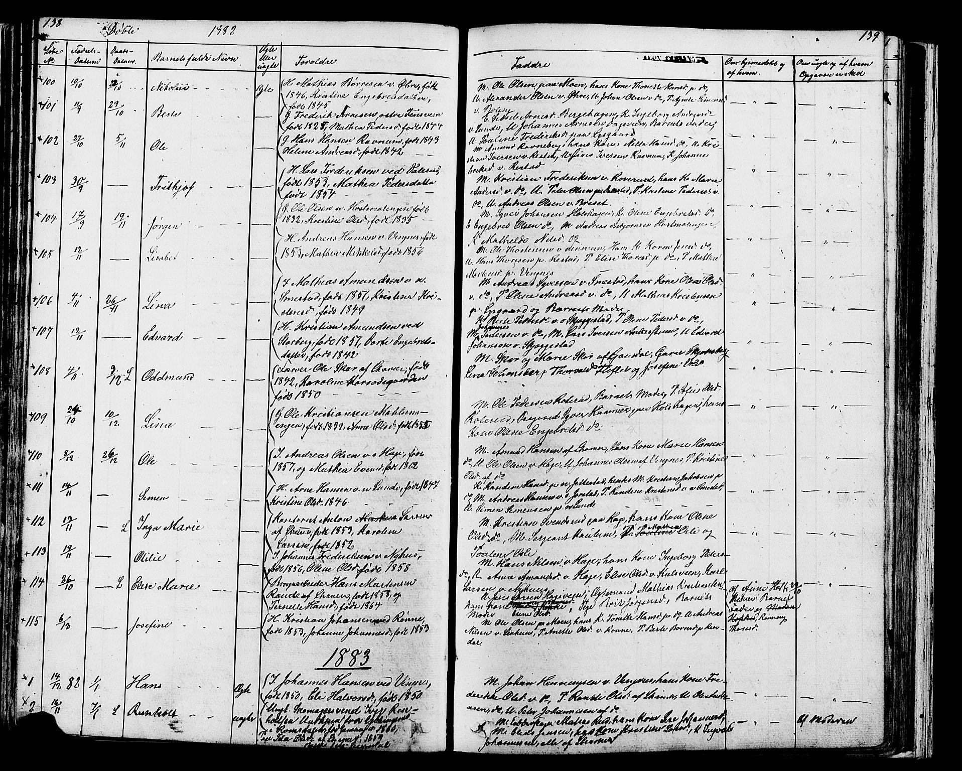 SAH, Fåberg prestekontor, Klokkerbok nr. 7, 1856-1891, s. 138-139