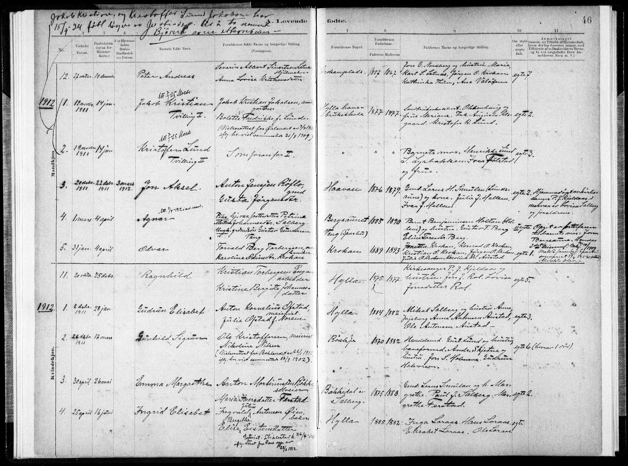SAT, Ministerialprotokoller, klokkerbøker og fødselsregistre - Nord-Trøndelag, 731/L0309: Ministerialbok nr. 731A01, 1879-1918, s. 46