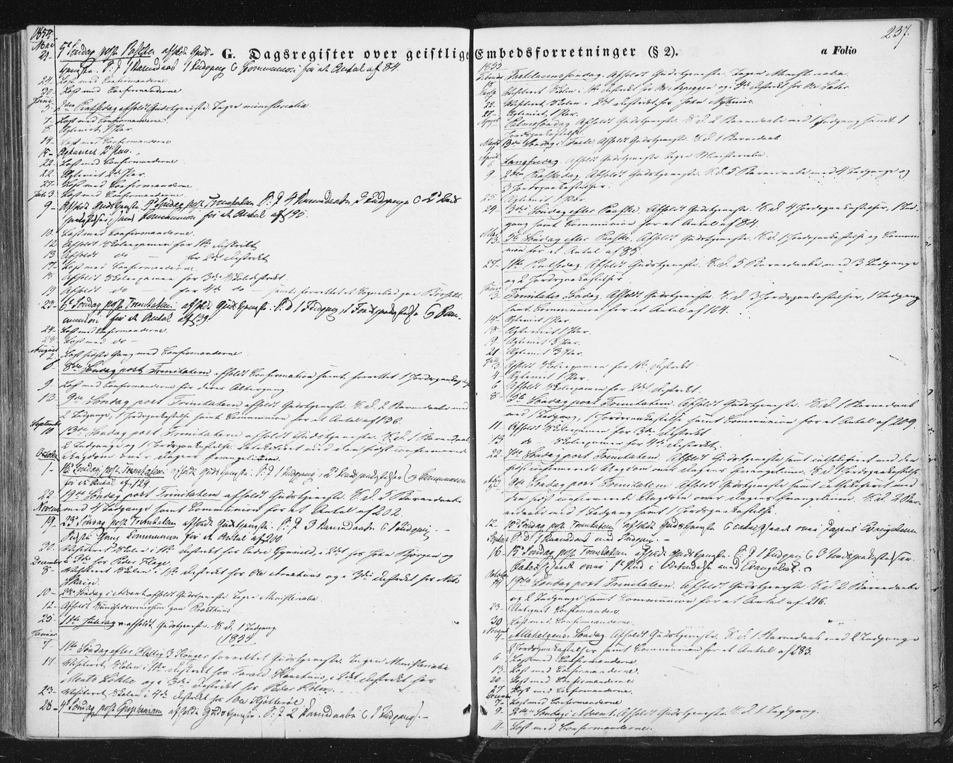 SAT, Ministerialprotokoller, klokkerbøker og fødselsregistre - Sør-Trøndelag, 689/L1038: Ministerialbok nr. 689A03, 1848-1872, s. 237