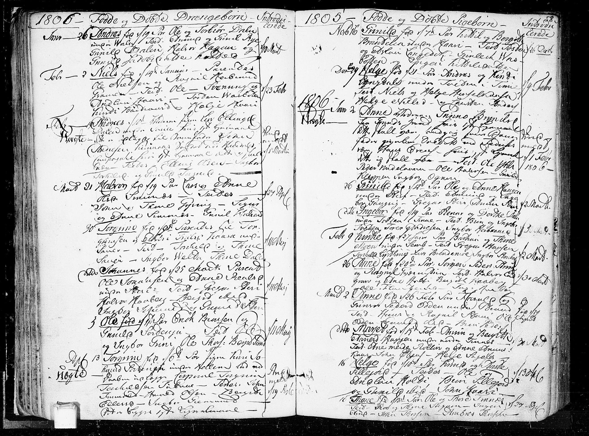 SAKO, Heddal kirkebøker, F/Fa/L0004: Ministerialbok nr. I 4, 1784-1814, s. 58