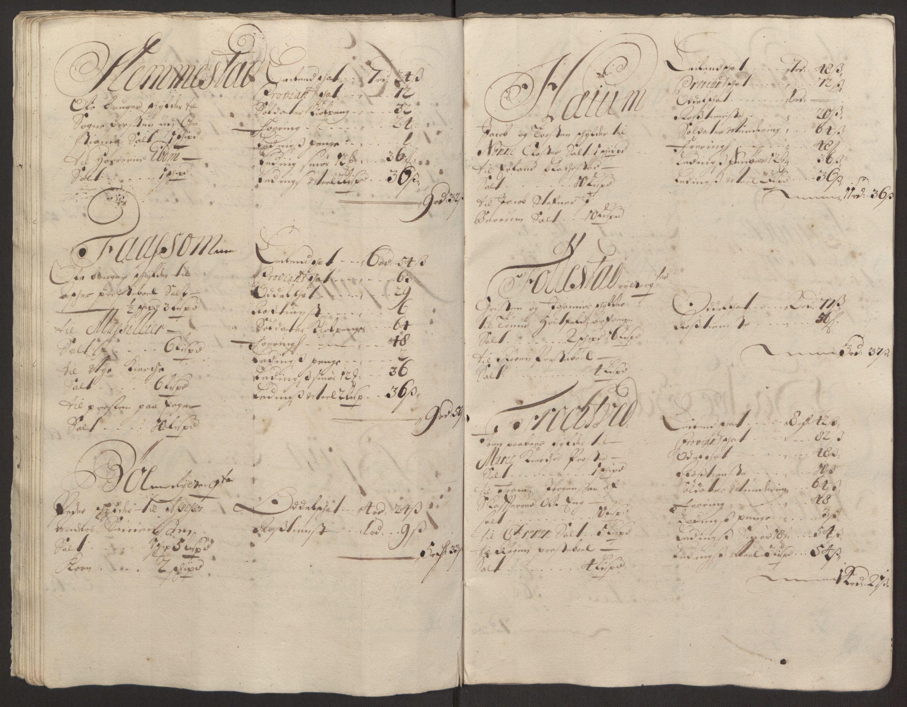 RA, Rentekammeret inntil 1814, Reviderte regnskaper, Fogderegnskap, R30/L1694: Fogderegnskap Hurum, Røyken, Eiker og Lier, 1694-1696, s. 355