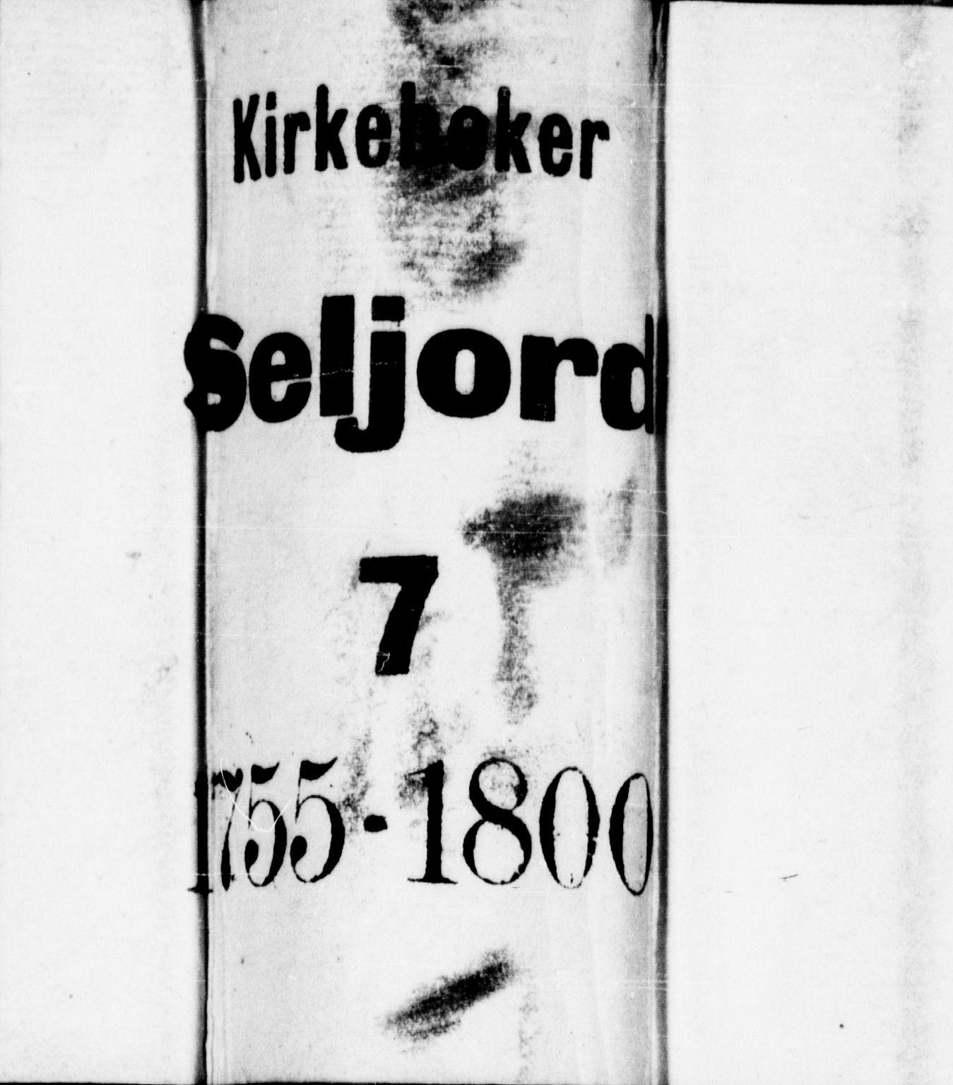 SAKO, Seljord kirkebøker, F/Fa/L0007: Ministerialbok nr. I 7, 1755-1800
