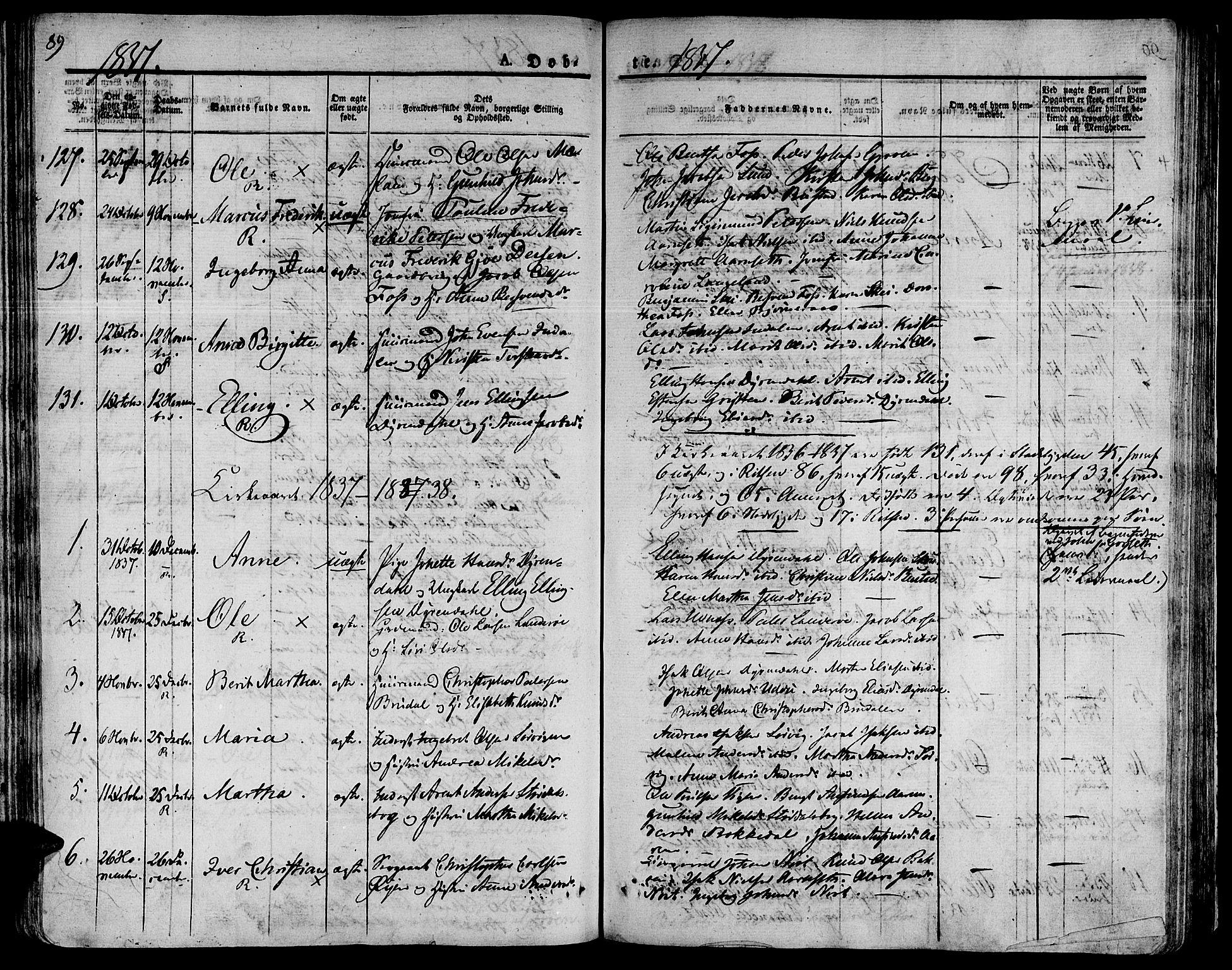 SAT, Ministerialprotokoller, klokkerbøker og fødselsregistre - Sør-Trøndelag, 646/L0609: Ministerialbok nr. 646A07, 1826-1838, s. 89