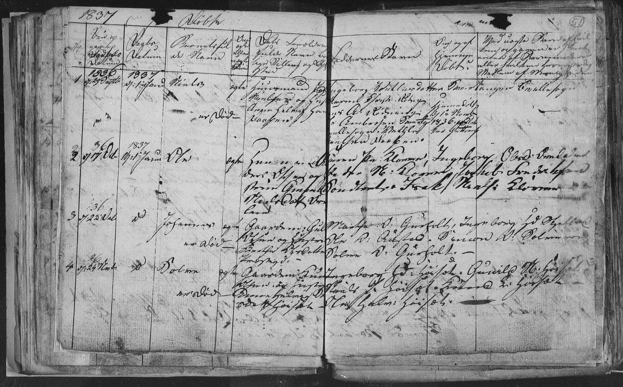 SAKO, Siljan kirkebøker, G/Ga/L0001: Klokkerbok nr. 1, 1827-1847, s. 51