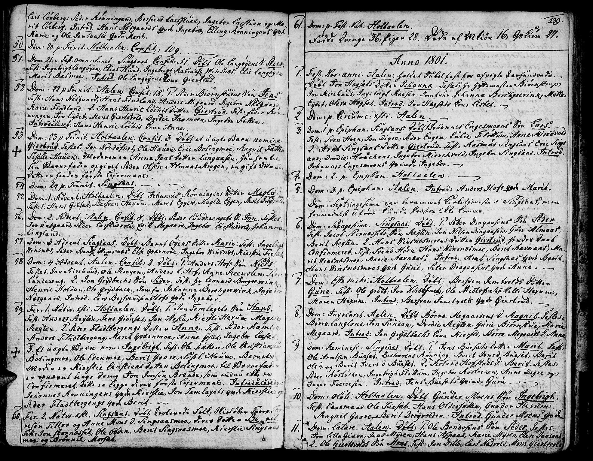 SAT, Ministerialprotokoller, klokkerbøker og fødselsregistre - Sør-Trøndelag, 685/L0952: Ministerialbok nr. 685A01, 1745-1804, s. 139