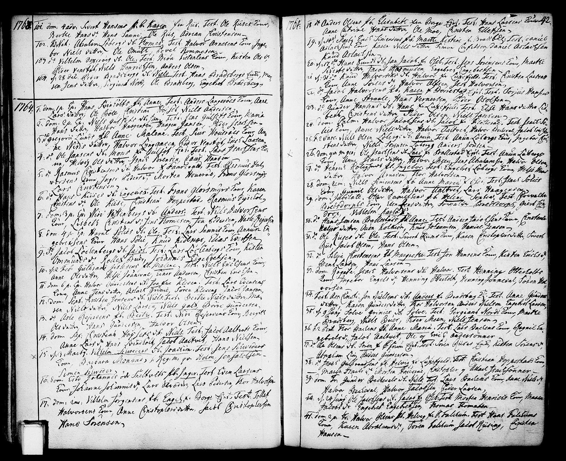 SAKO, Gjerpen kirkebøker, F/Fa/L0002: Ministerialbok nr. 2, 1747-1795, s. 42