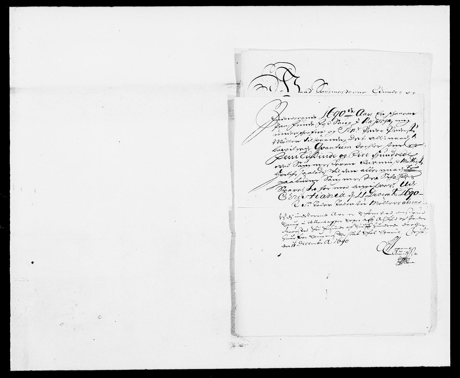 RA, Rentekammeret inntil 1814, Reviderte regnskaper, Fogderegnskap, R12/L0702: Fogderegnskap Øvre Romerike, 1690, s. 184