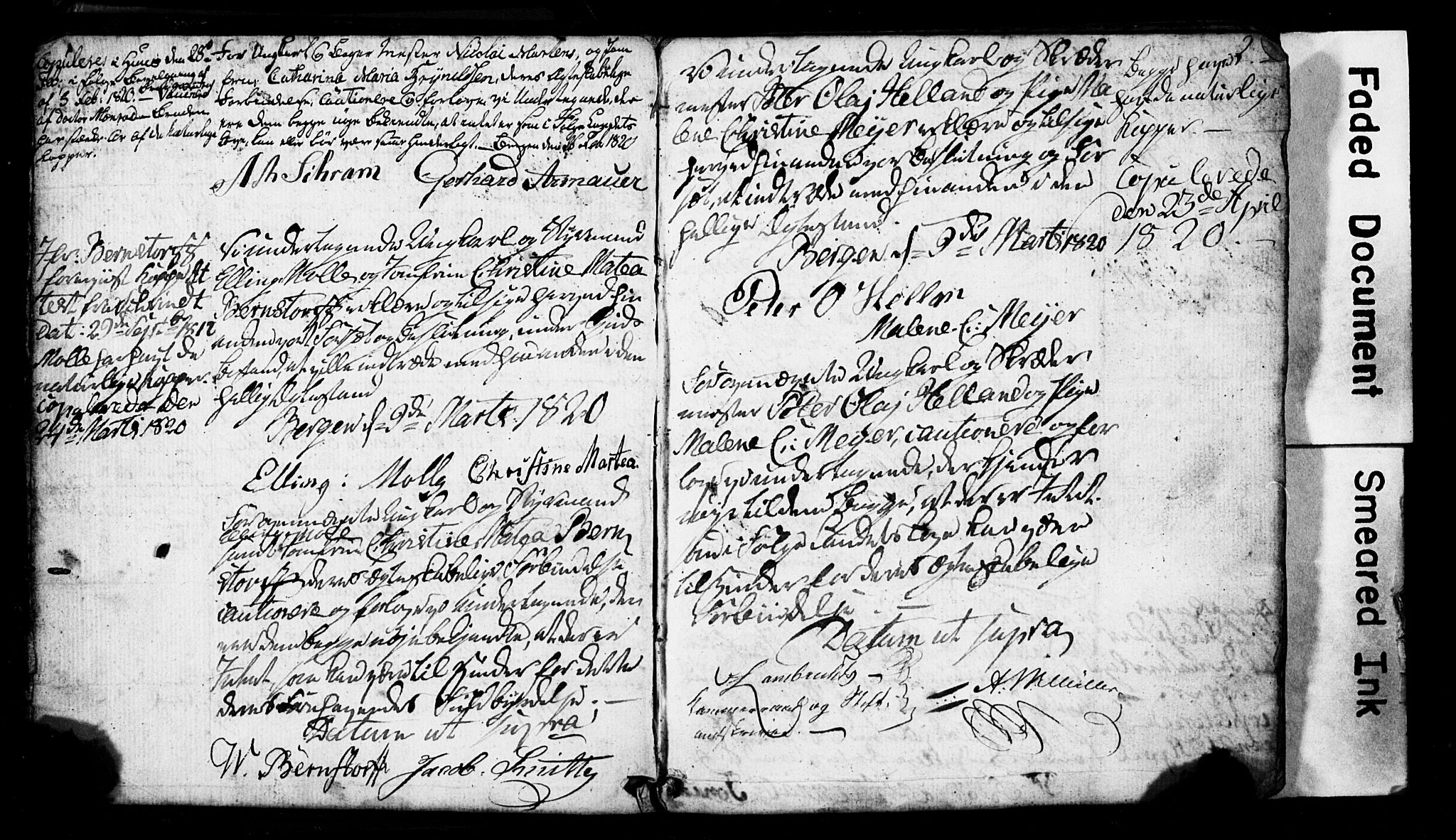 SAB, Domkirken Sokneprestembete, Forlovererklæringer nr. II.5.2, 1820-1832, s. 2
