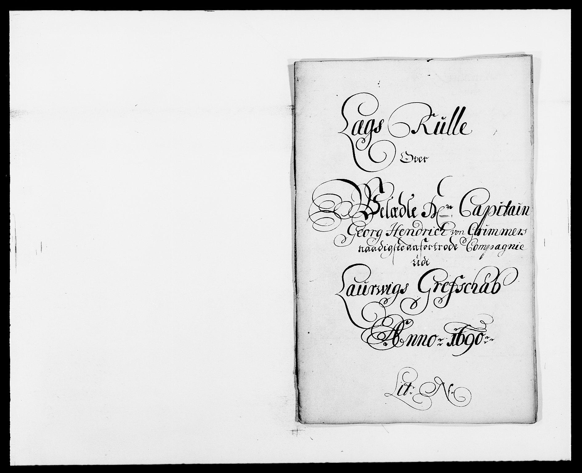 RA, Rentekammeret inntil 1814, Reviderte regnskaper, Fogderegnskap, R33/L1972: Fogderegnskap Larvik grevskap, 1690-1691, s. 164