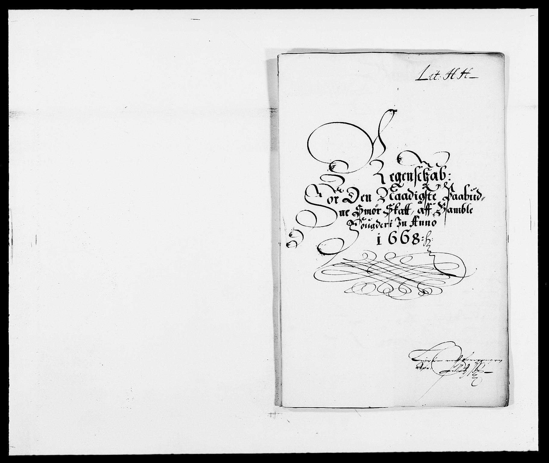 RA, Rentekammeret inntil 1814, Reviderte regnskaper, Fogderegnskap, R34/L2040: Fogderegnskap Bamble, 1662-1669, s. 51