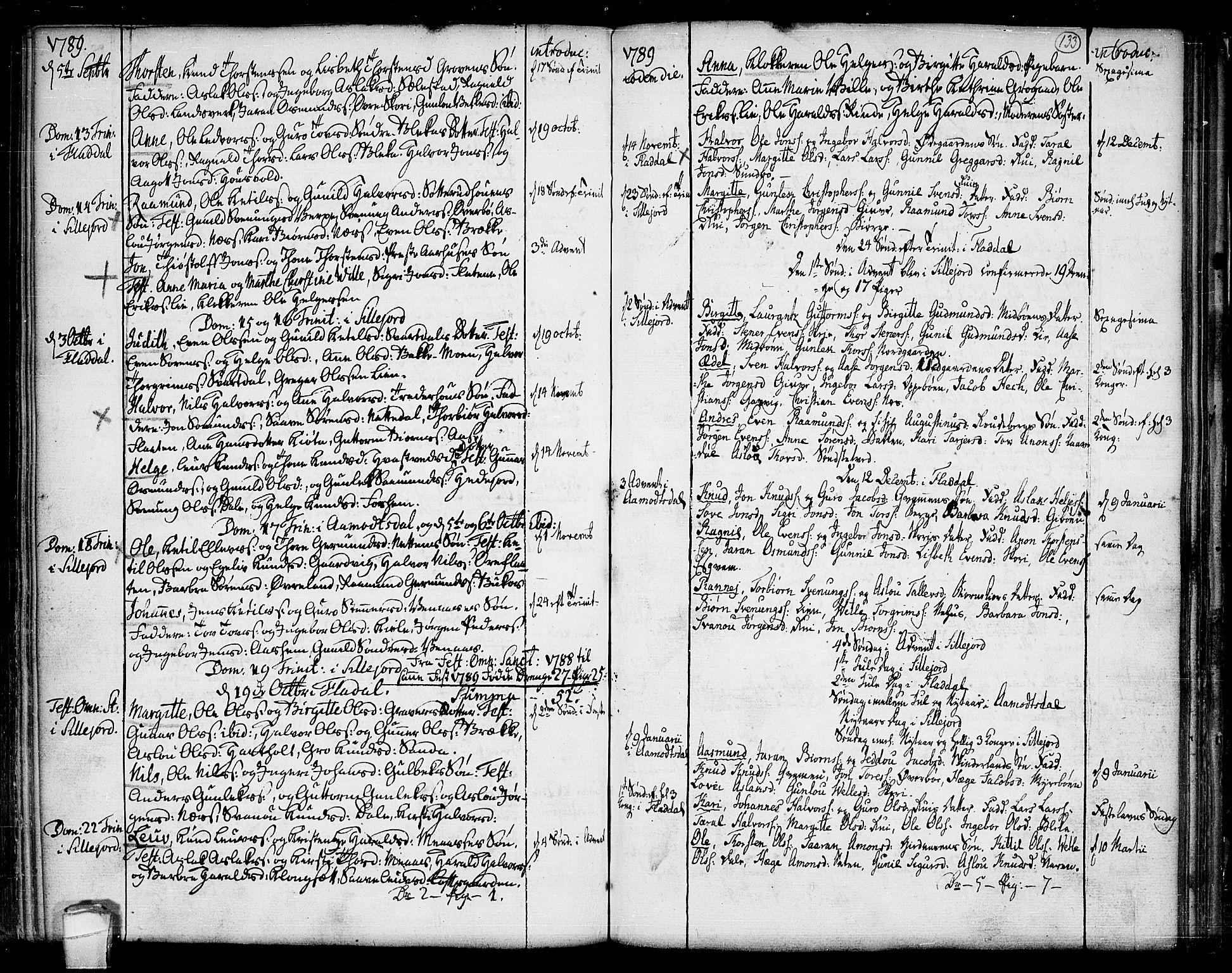 SAKO, Seljord kirkebøker, F/Fa/L0007: Ministerialbok nr. I 7, 1755-1800, s. 133