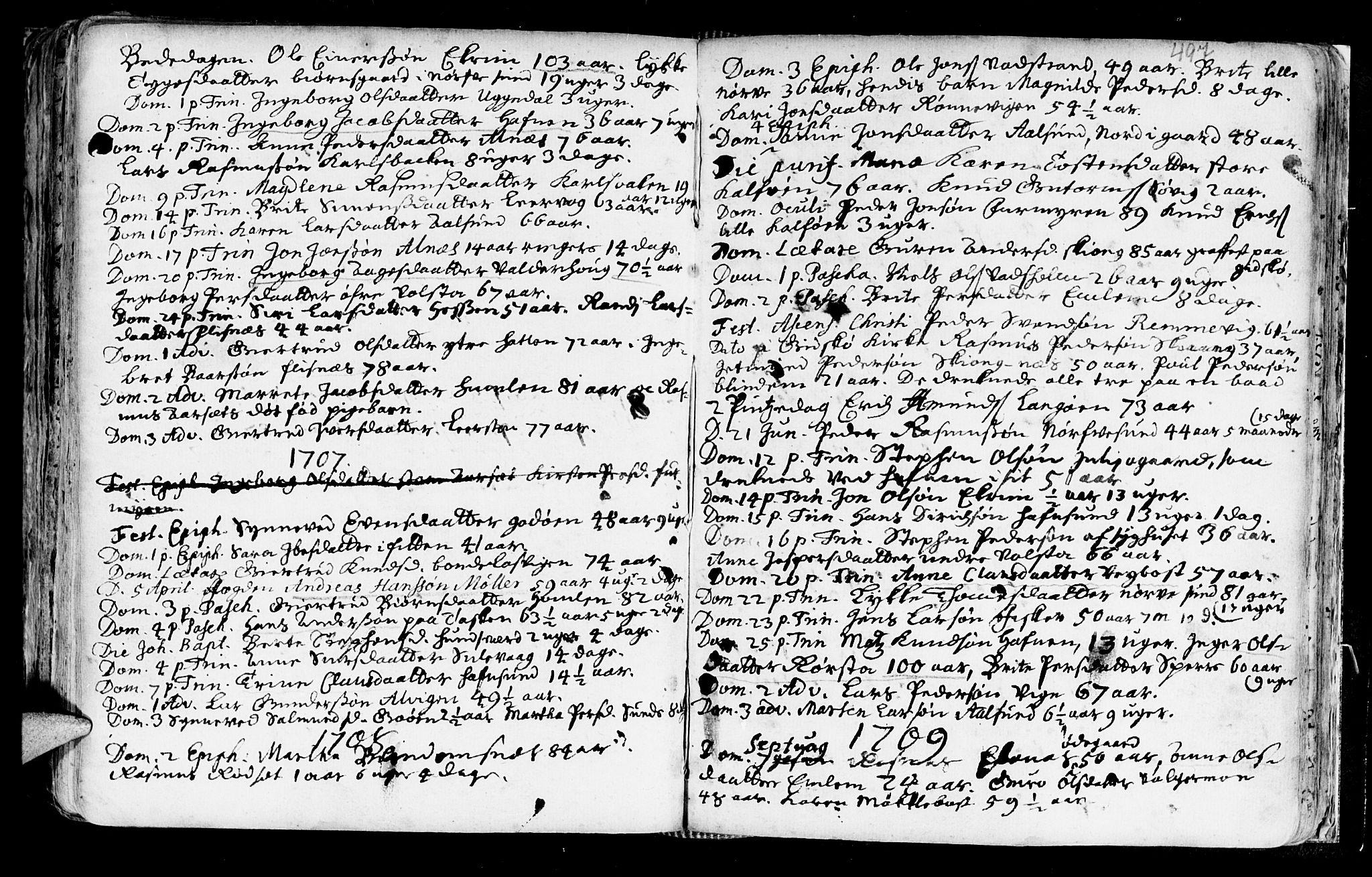 SAT, Ministerialprotokoller, klokkerbøker og fødselsregistre - Møre og Romsdal, 528/L0390: Ministerialbok nr. 528A01, 1698-1739, s. 496-497