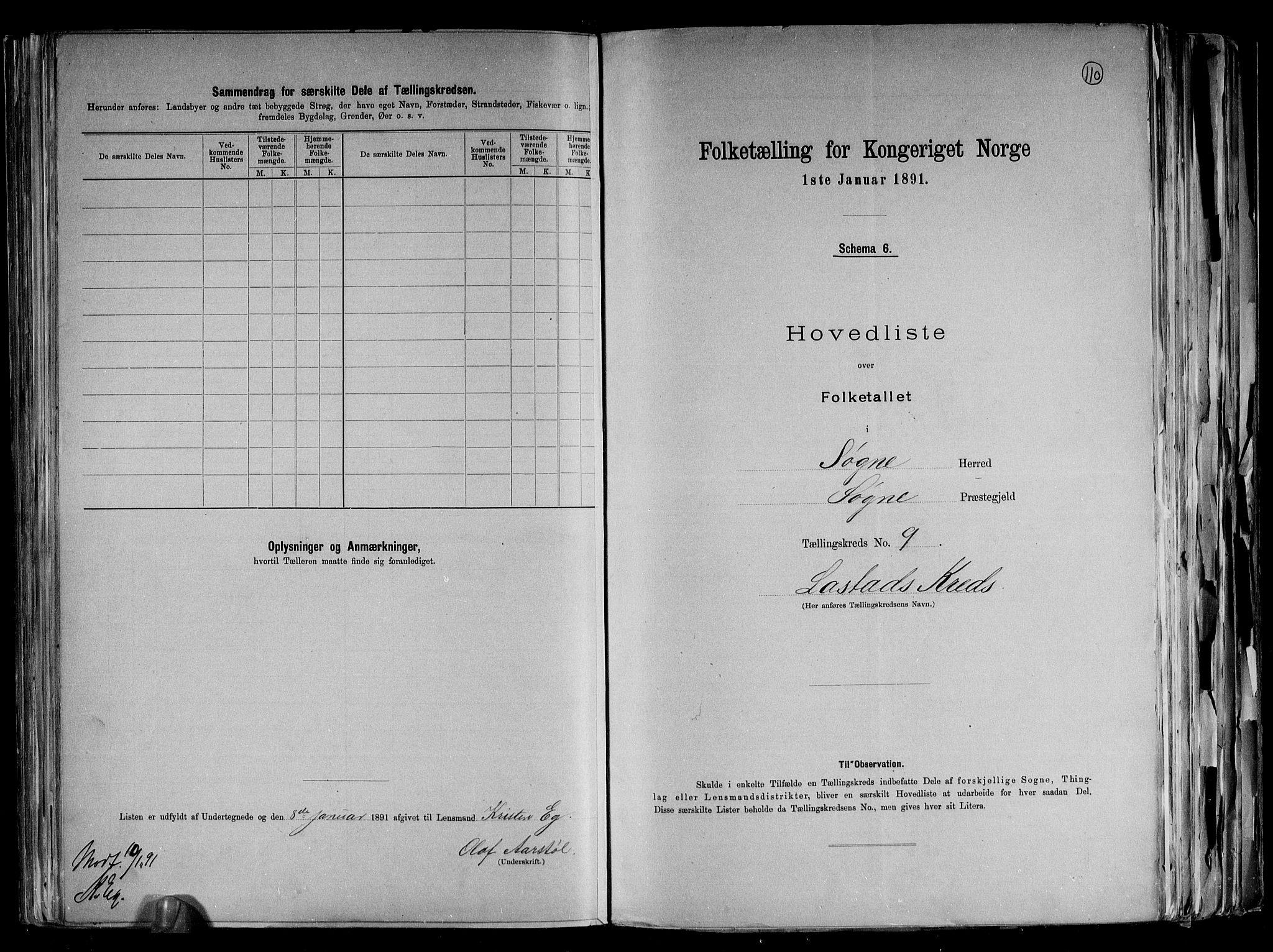 RA, Folketelling 1891 for 1018 Søgne herred, 1891, s. 26