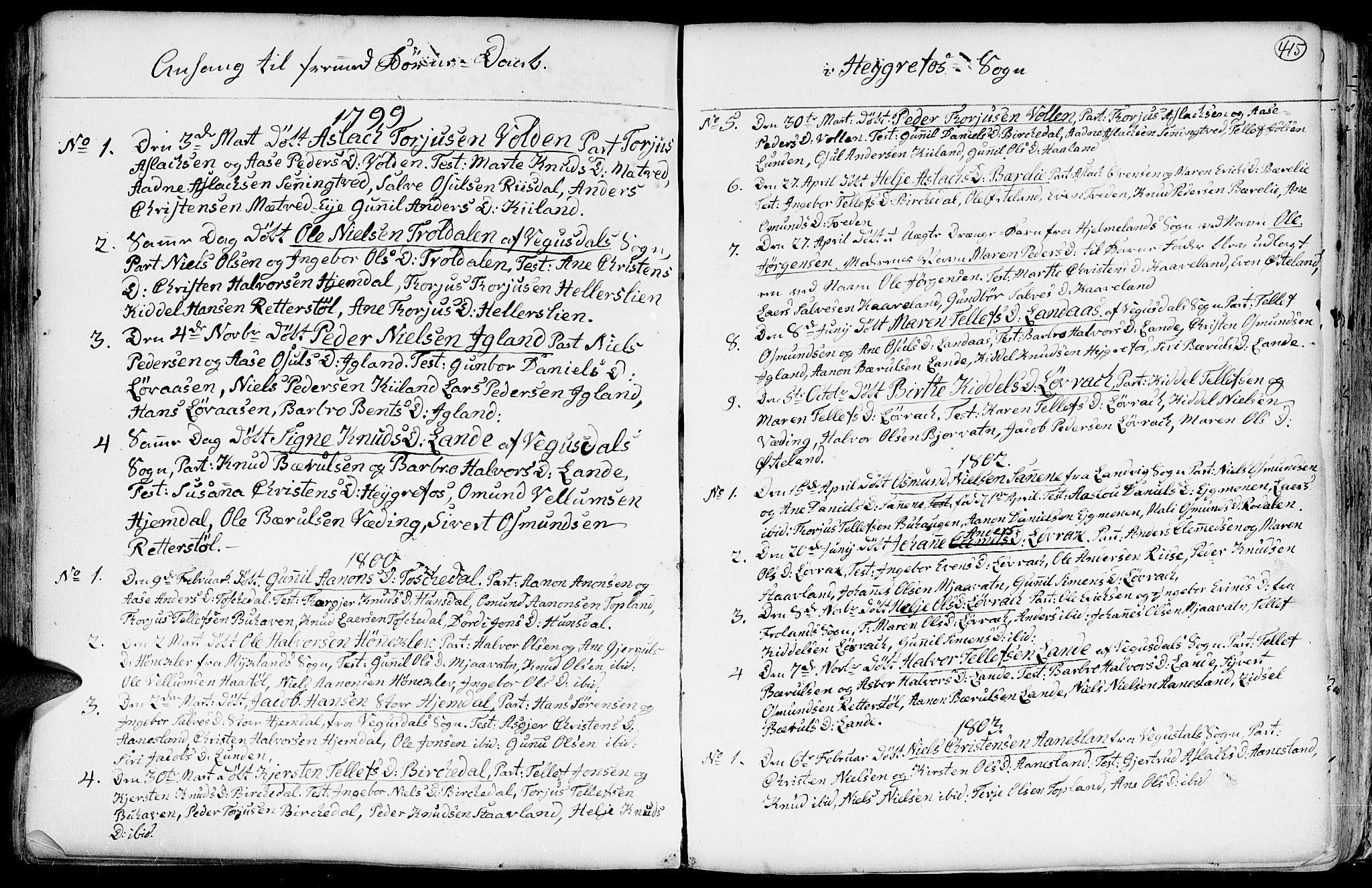 SAK, Hommedal sokneprestkontor, F/Fa/Fab/L0002: Ministerialbok nr. A 2 /3, 1740-1821, s. 415