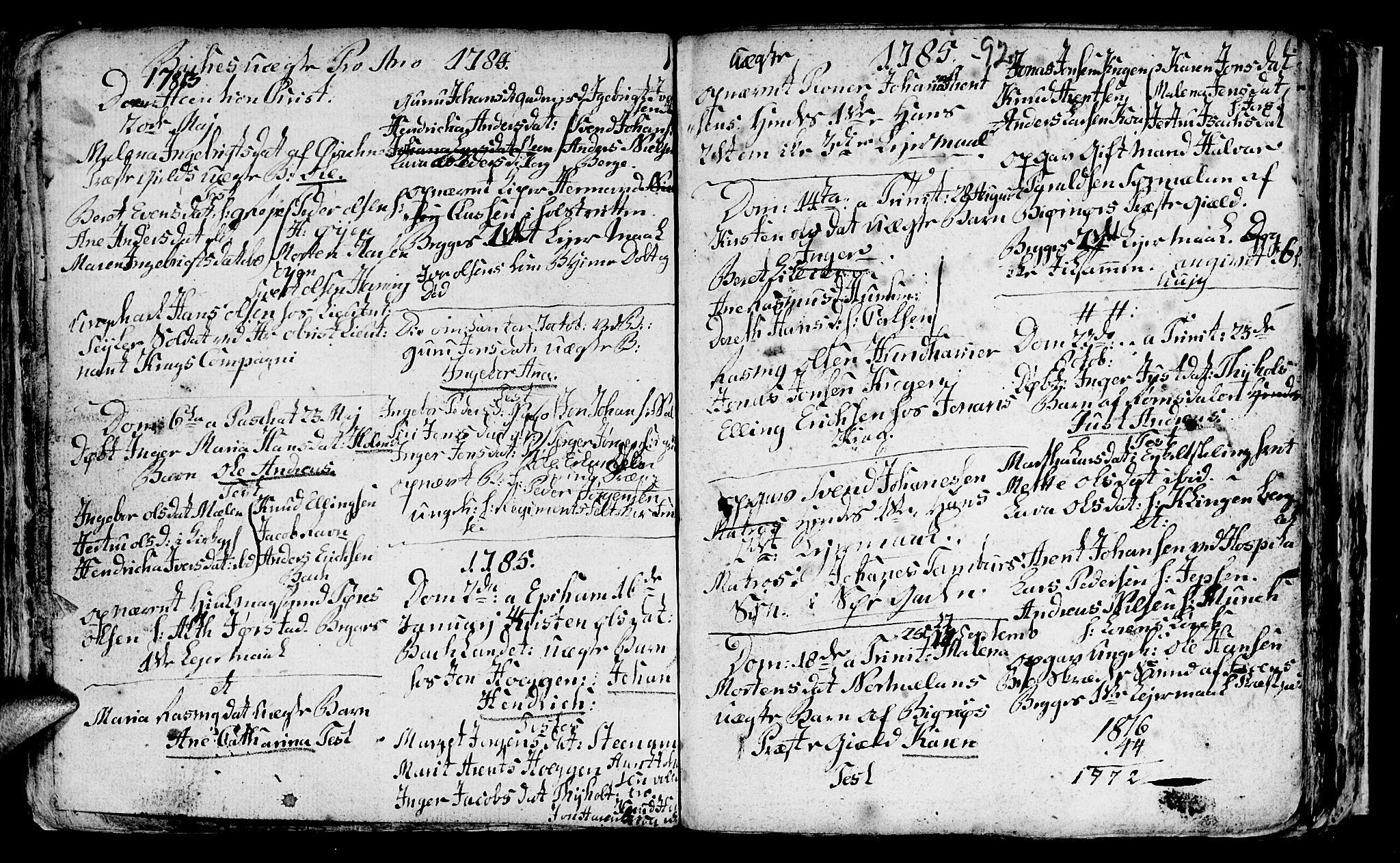 SAT, Ministerialprotokoller, klokkerbøker og fødselsregistre - Sør-Trøndelag, 604/L0218: Klokkerbok nr. 604C01, 1754-1819, s. 92