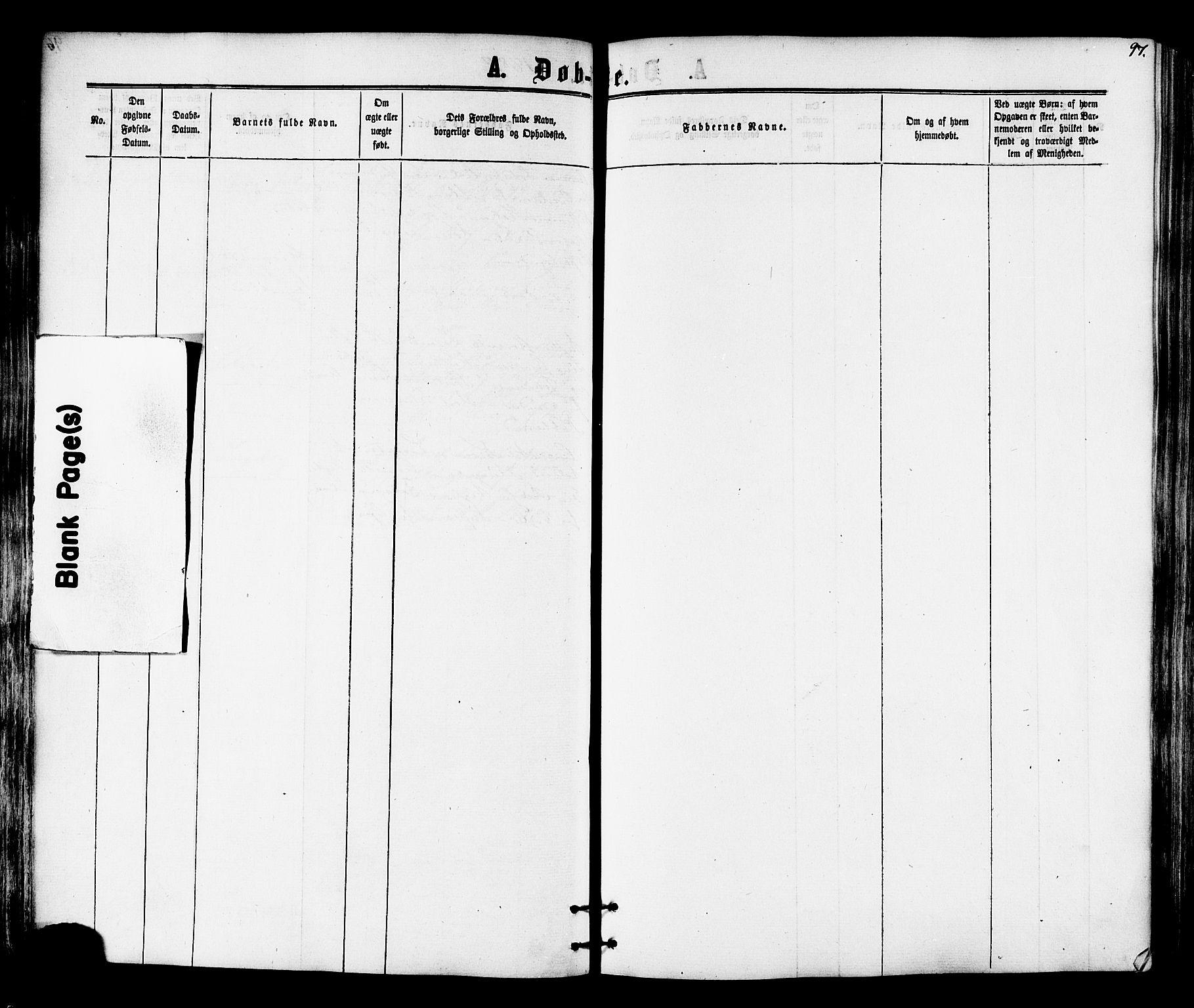 SAT, Ministerialprotokoller, klokkerbøker og fødselsregistre - Nord-Trøndelag, 701/L0009: Ministerialbok nr. 701A09 /1, 1864-1882, s. 97