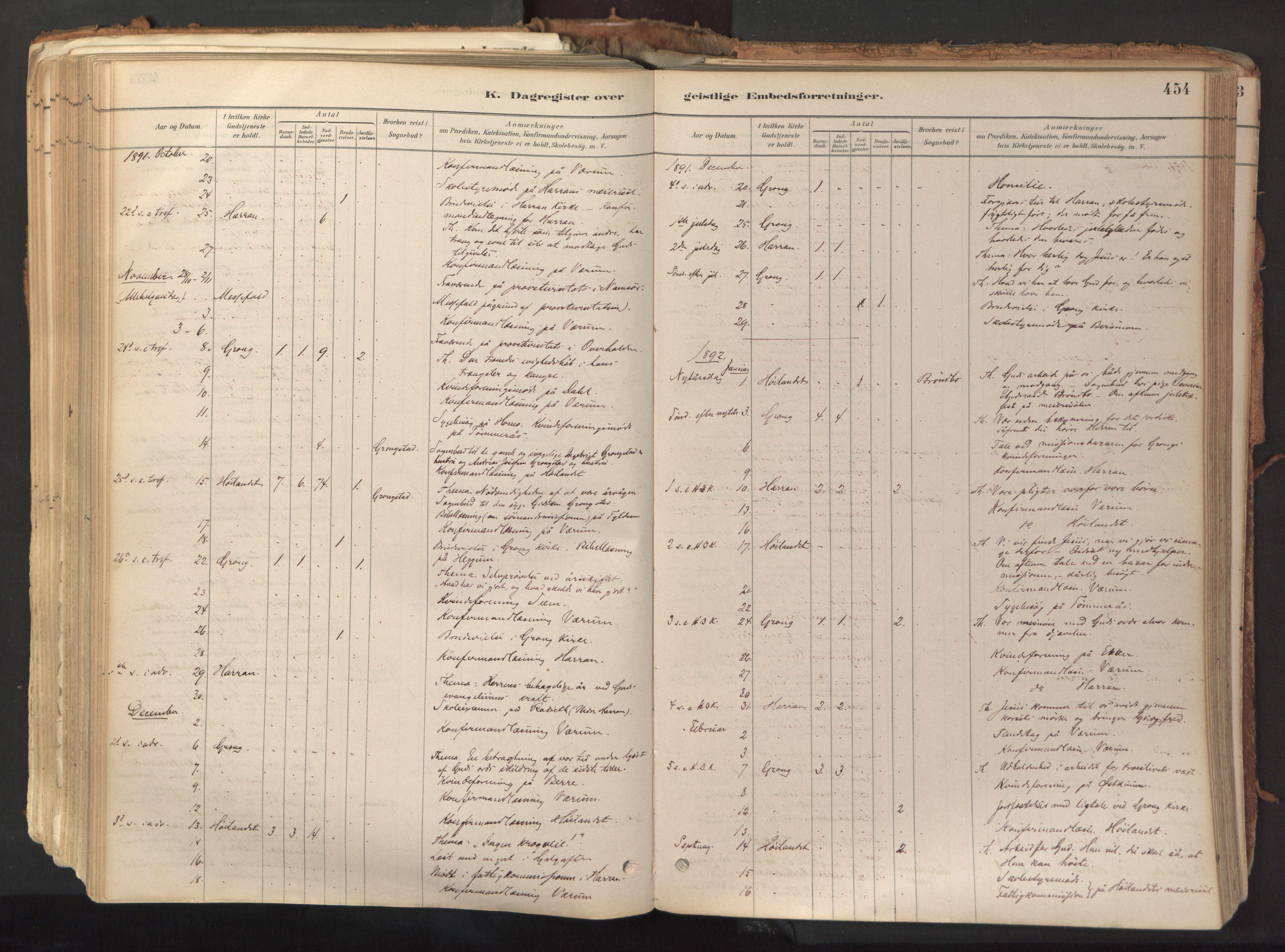 SAT, Ministerialprotokoller, klokkerbøker og fødselsregistre - Nord-Trøndelag, 758/L0519: Ministerialbok nr. 758A04, 1880-1926, s. 454