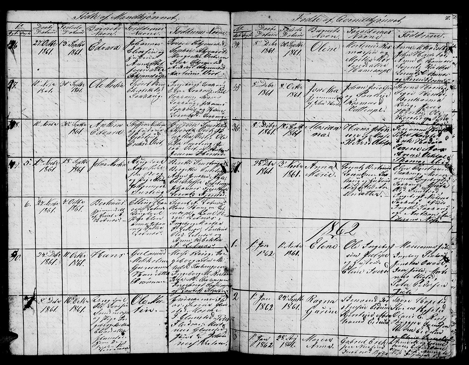 SAT, Ministerialprotokoller, klokkerbøker og fødselsregistre - Nord-Trøndelag, 730/L0299: Klokkerbok nr. 730C02, 1849-1871, s. 71