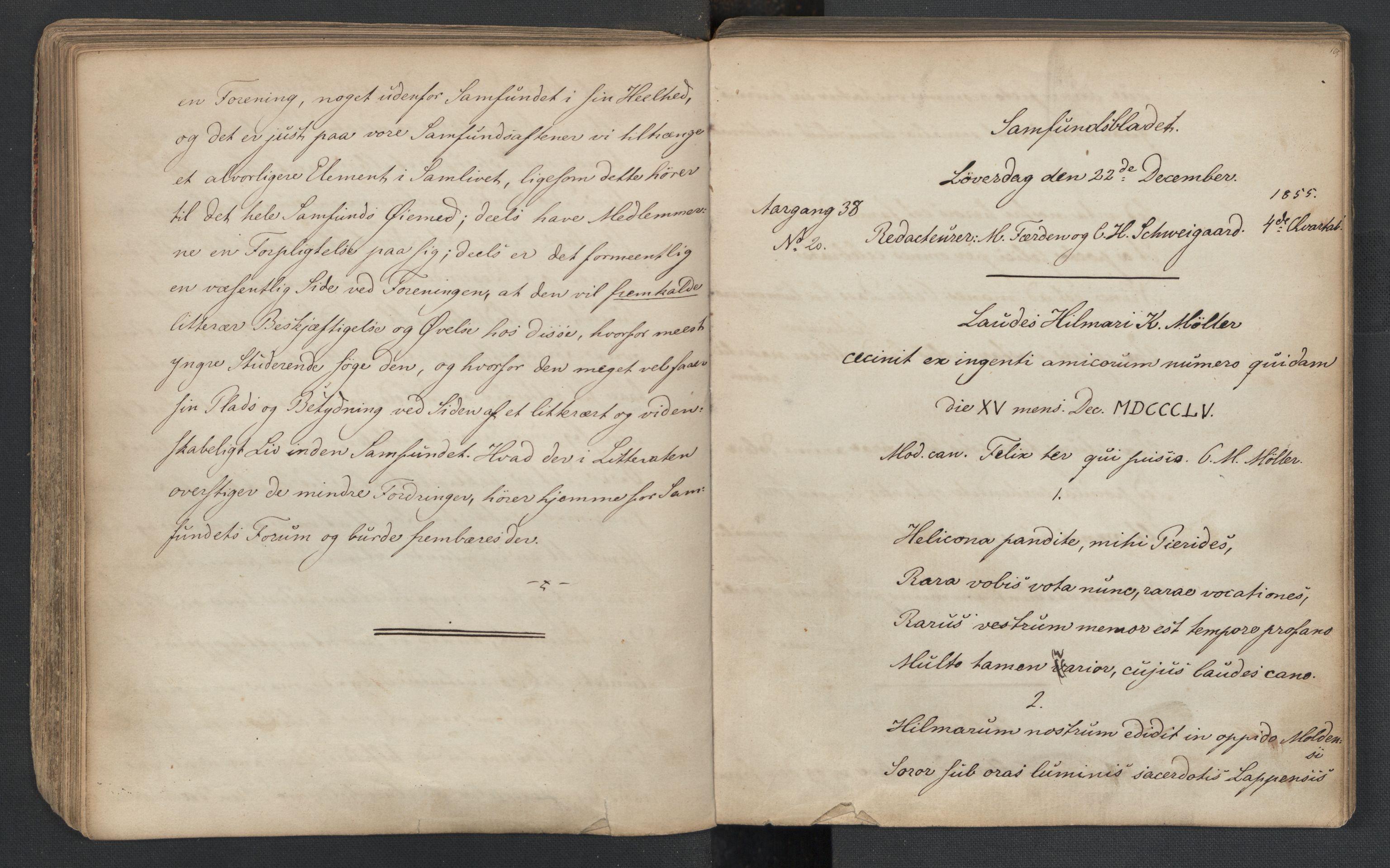RA, Det Norske Studentersamfund, X/Xa/L0005, 1855-1856, s. 84