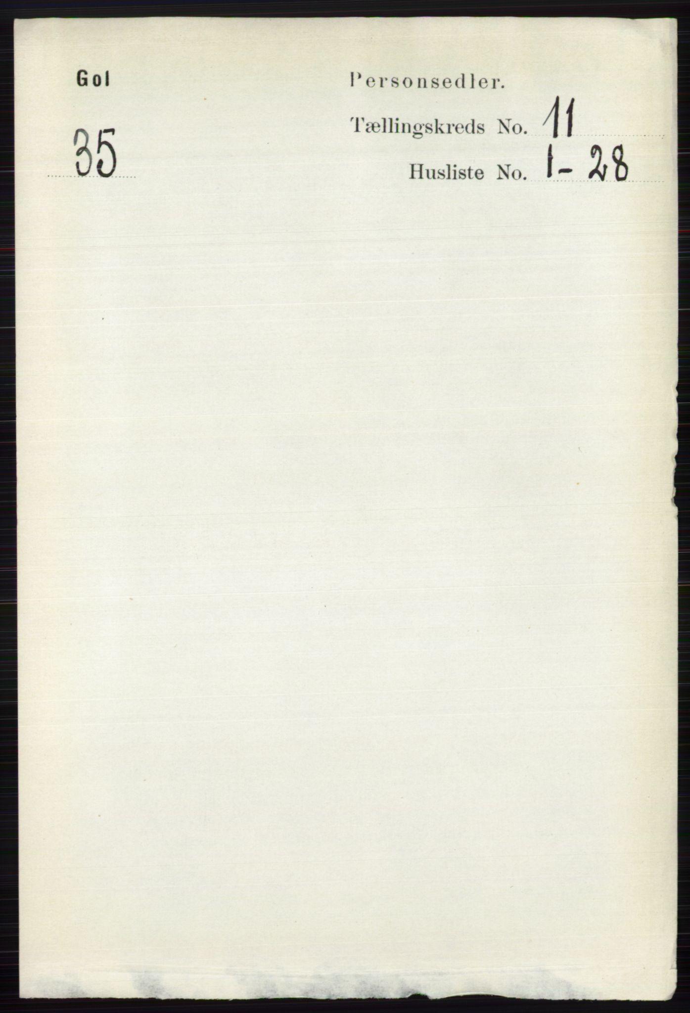 RA, Folketelling 1891 for 0617 Gol og Hemsedal herred, 1891, s. 4361