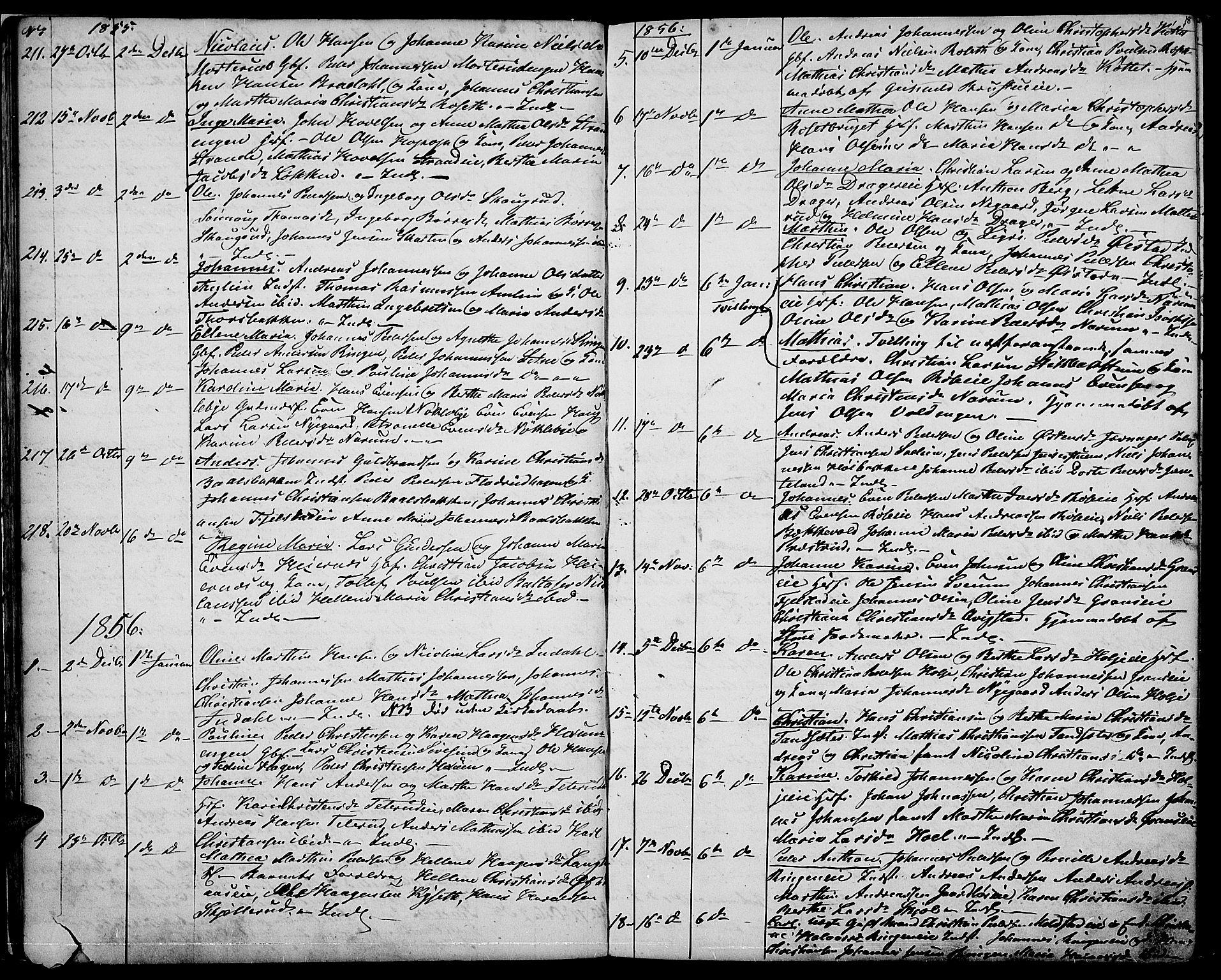 SAH, Vestre Toten prestekontor, Klokkerbok nr. 5, 1854-1870, s. 18