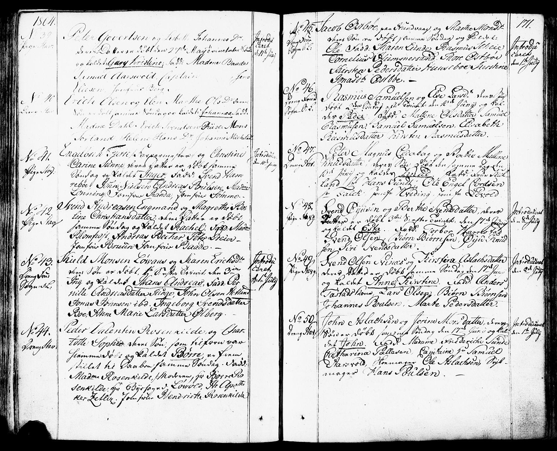 SAST, Domkirken sokneprestkontor, 30/30BB/L0007: Klokkerbok nr. B 7, 1791-1813, s. 171