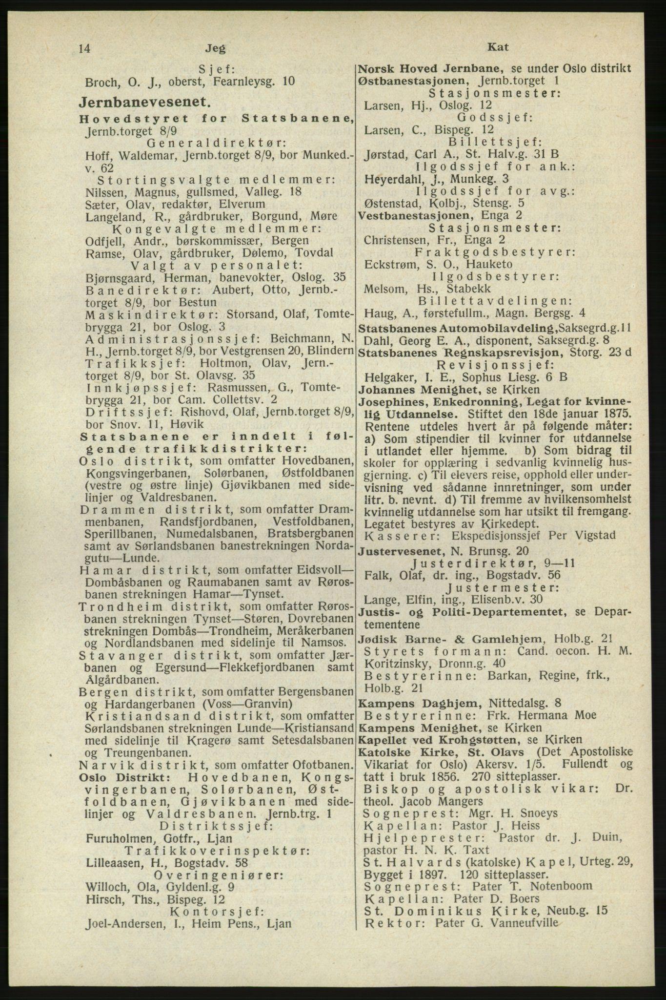 RA, Oslo adressebok (publikasjon)*, 1940, s. 14