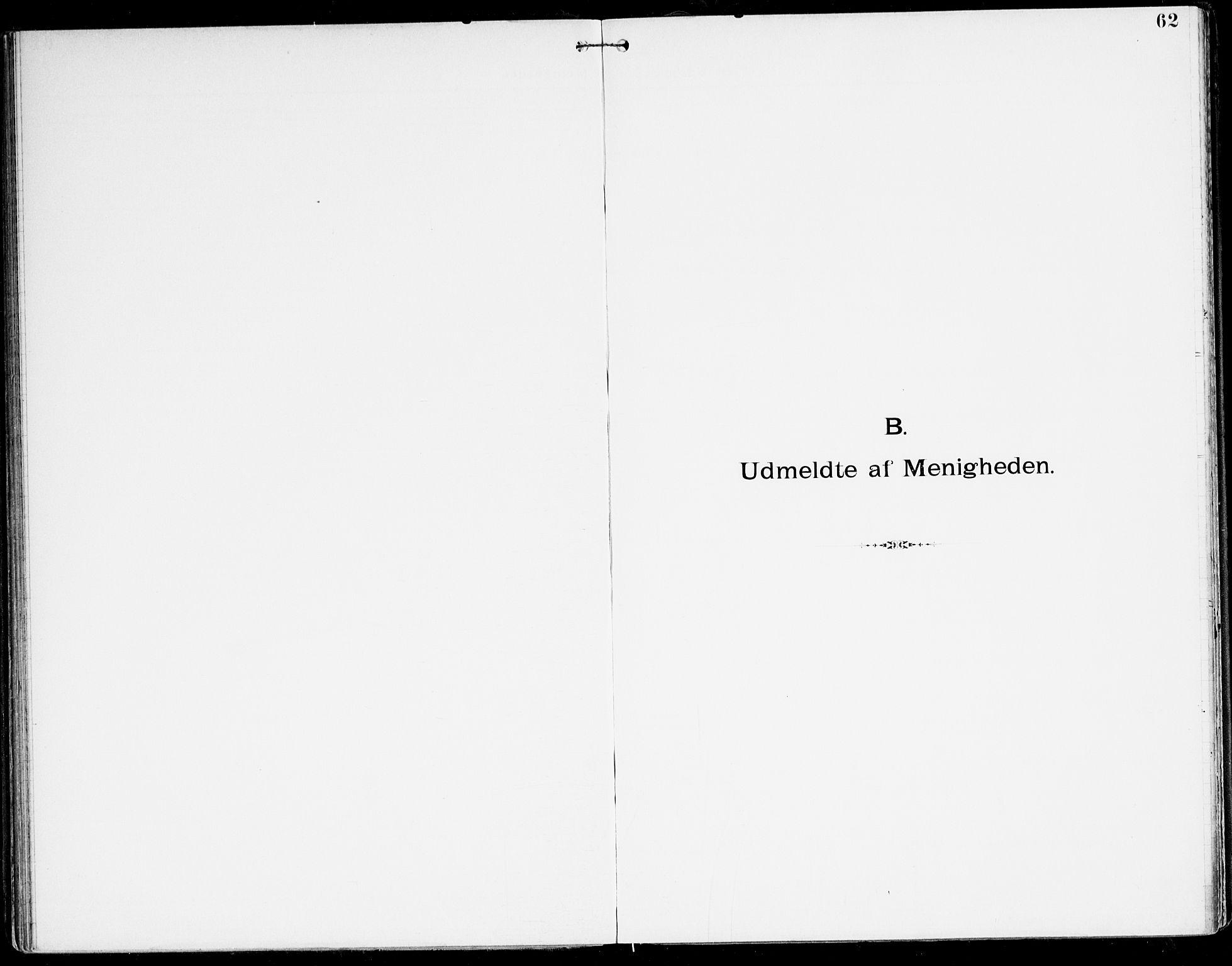 SAK, Den evangelisk-lutherske frikirke, Kristiansand, F/Fa/L0003: Dissenterprotokoll nr. F 11, 1892-1925, s. 62