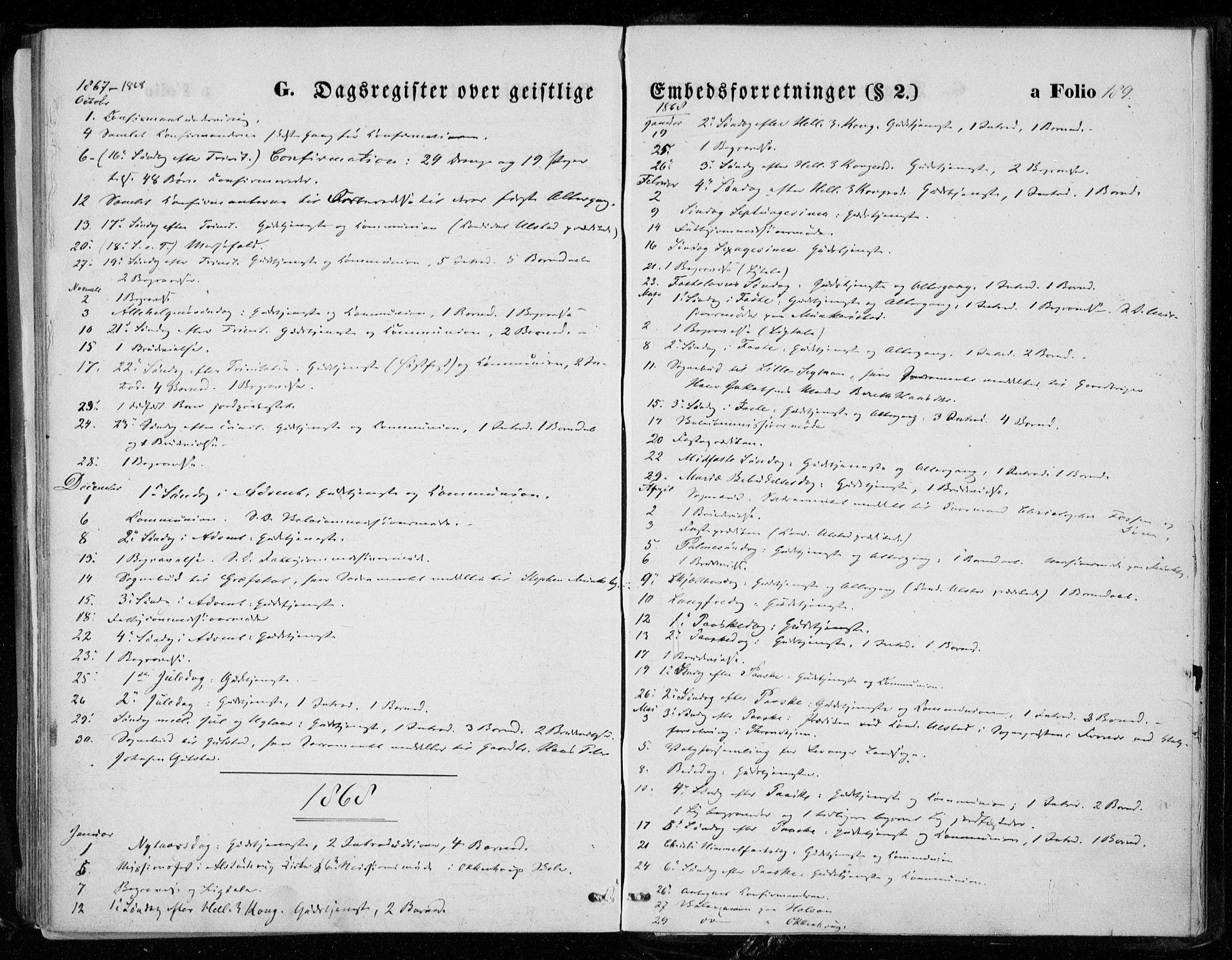 SAT, Ministerialprotokoller, klokkerbøker og fødselsregistre - Nord-Trøndelag, 721/L0206: Ministerialbok nr. 721A01, 1864-1874, s. 189