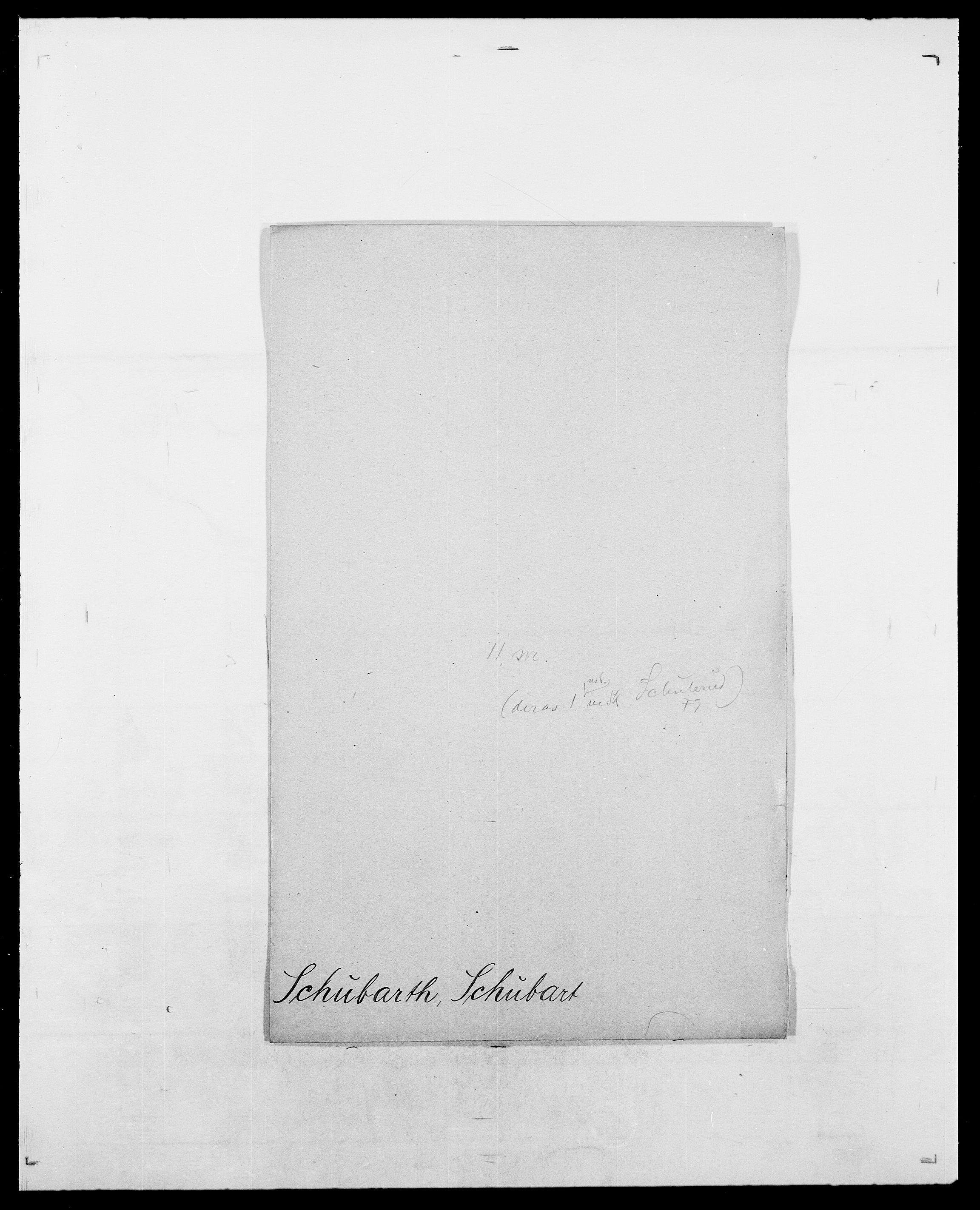 SAO, Delgobe, Charles Antoine - samling, D/Da/L0035: Schnabel - sjetman, s. 243
