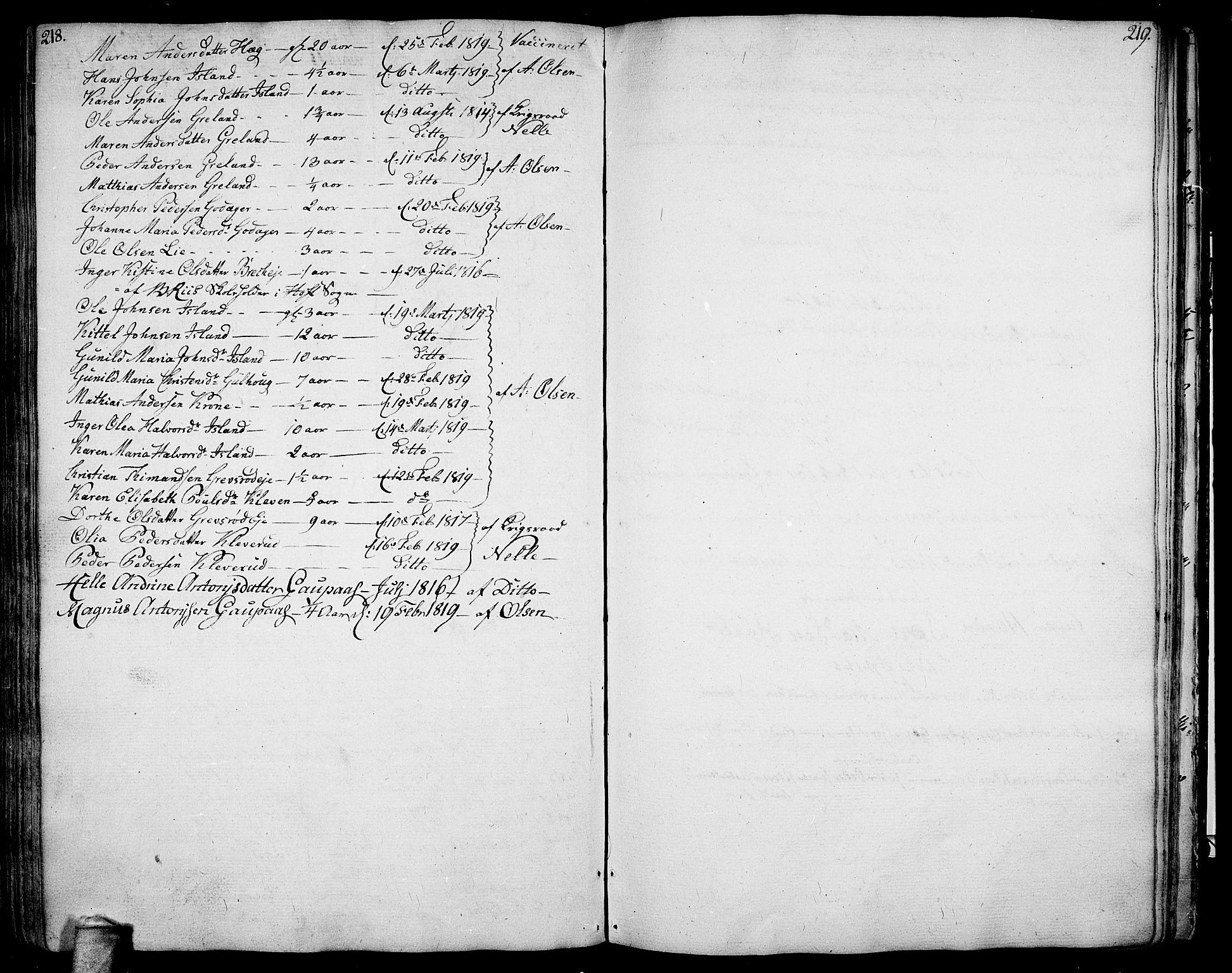 SAKO, Botne kirkebøker, F/Fa/L0003: Ministerialbok nr. I 3 /1, 1792-1844, s. 218-219