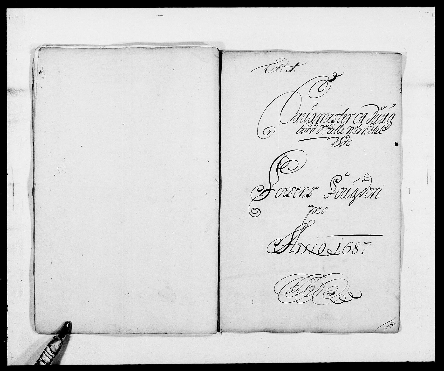 RA, Rentekammeret inntil 1814, Reviderte regnskaper, Fogderegnskap, R57/L3845: Fogderegnskap Fosen, 1687, s. 17