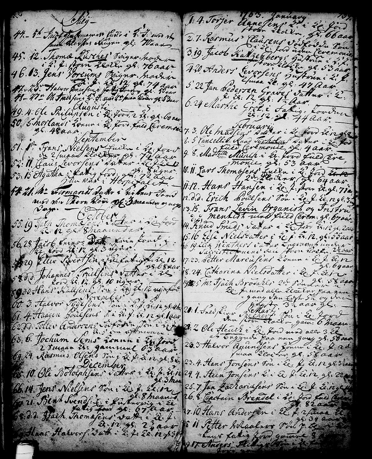 SAKO, Skien kirkebøker, G/Ga/L0001: Klokkerbok nr. 1, 1756-1791, s. 139