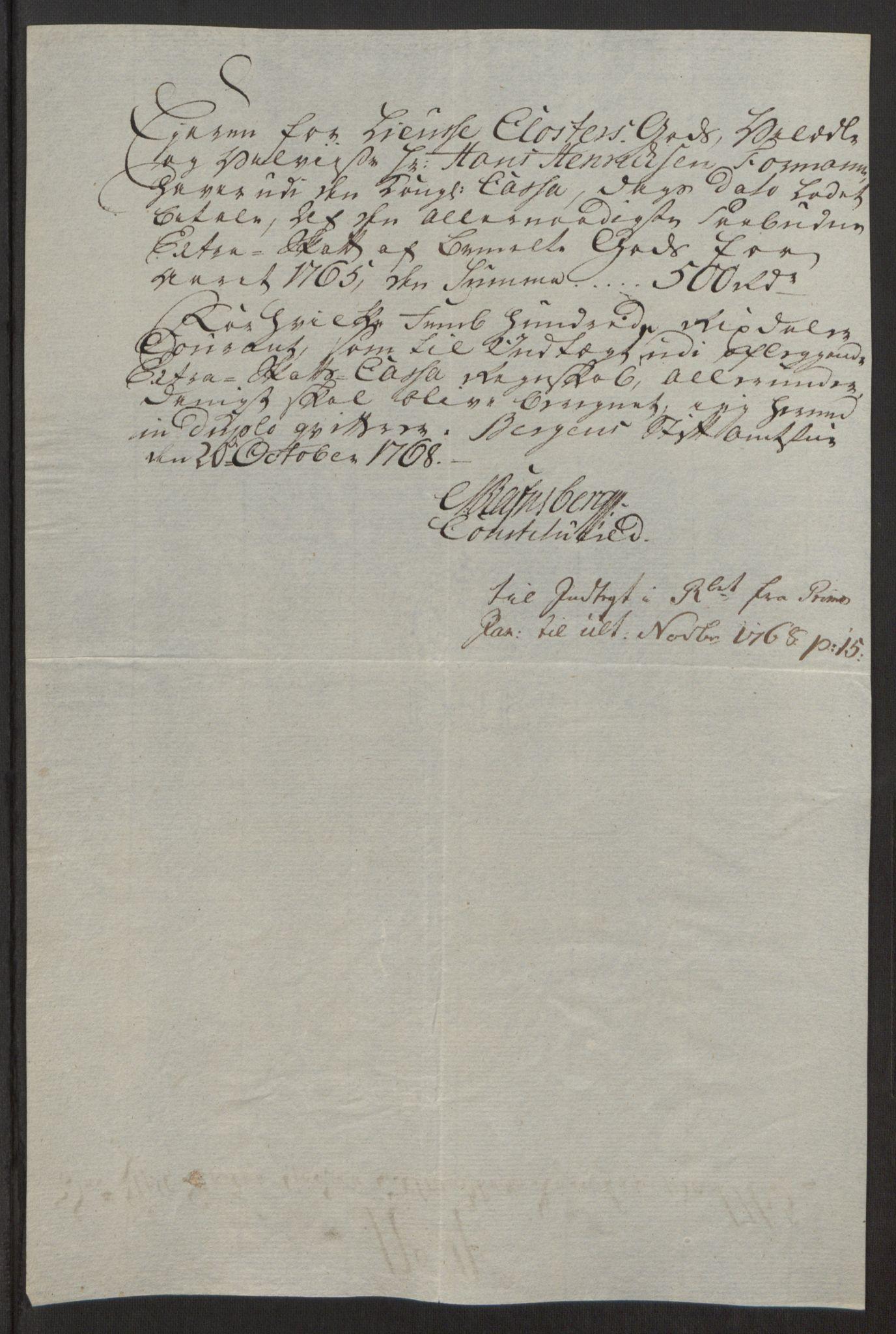 RA, Rentekammeret inntil 1814, Reviderte regnskaper, Fogderegnskap, R50/L3180: Ekstraskatten Lyse kloster, 1762-1783, s. 146